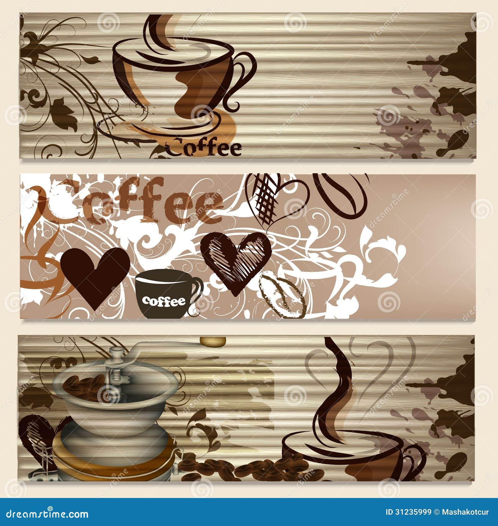 Folletos del caf con las tazas y granos para el dise o im genes de archivo libres de regal as - Tazas de cafe de diseno ...