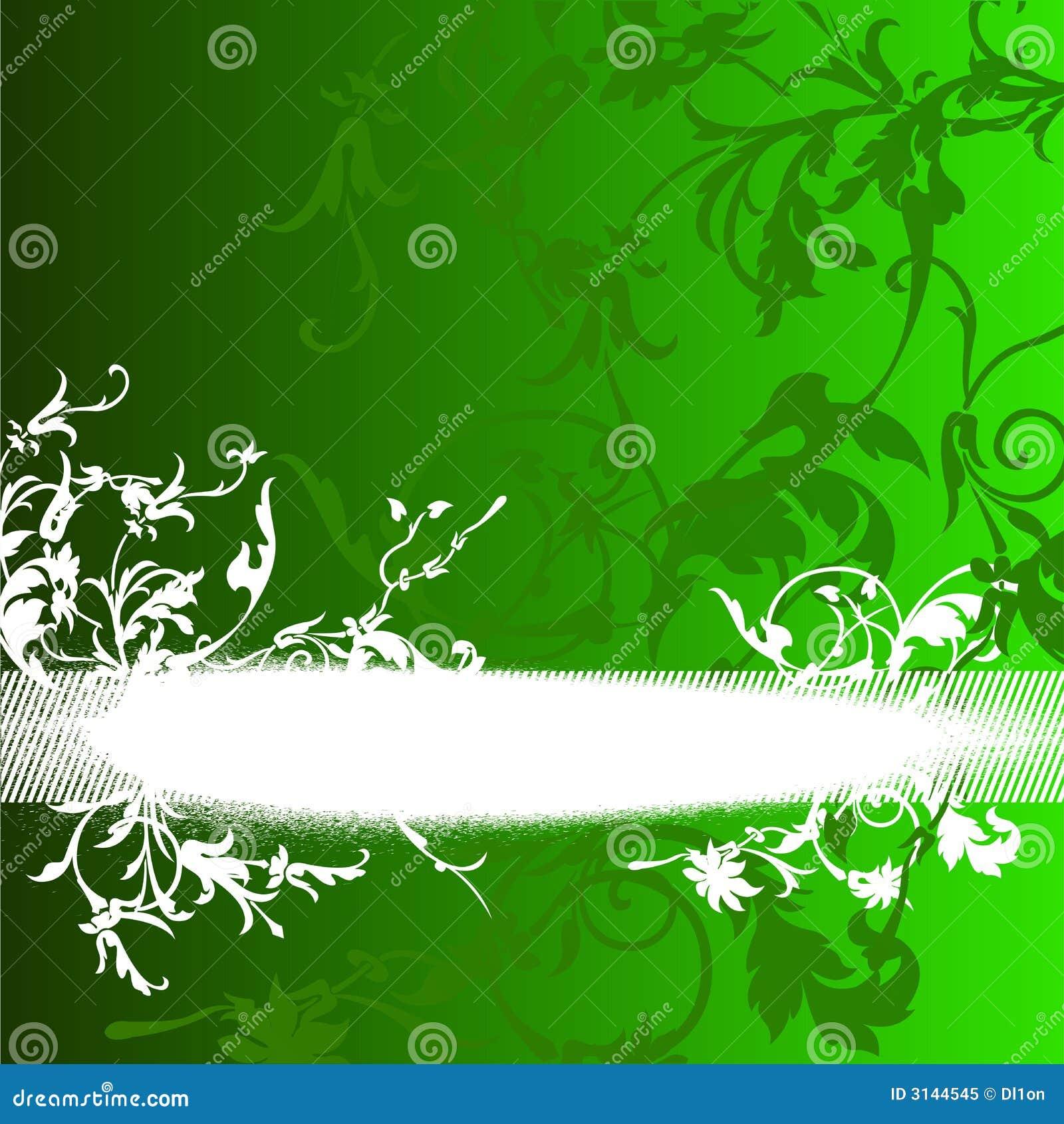 Folliage bianco su verde