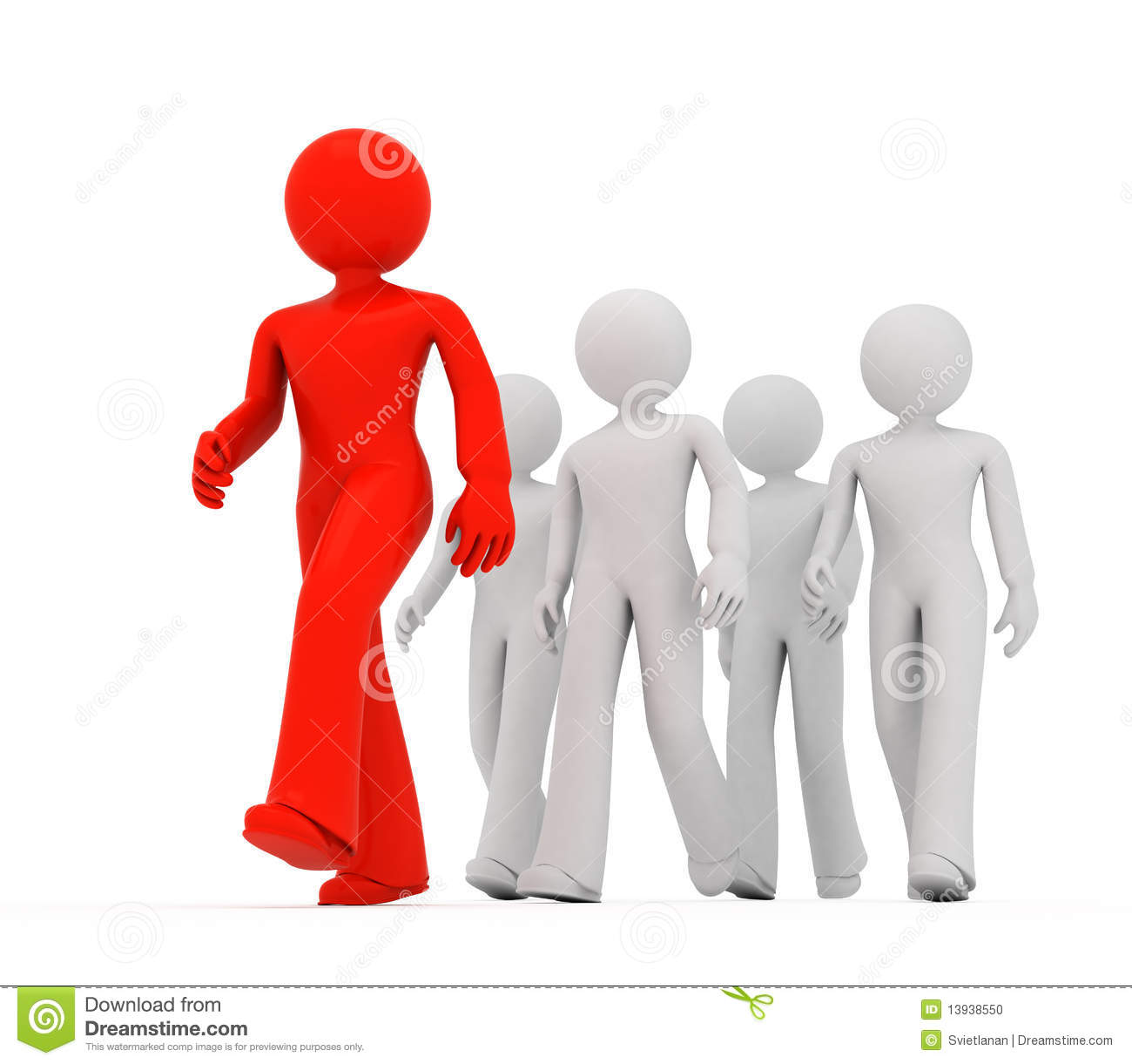 Follow the Leader stock illustration. Image of follow ...
