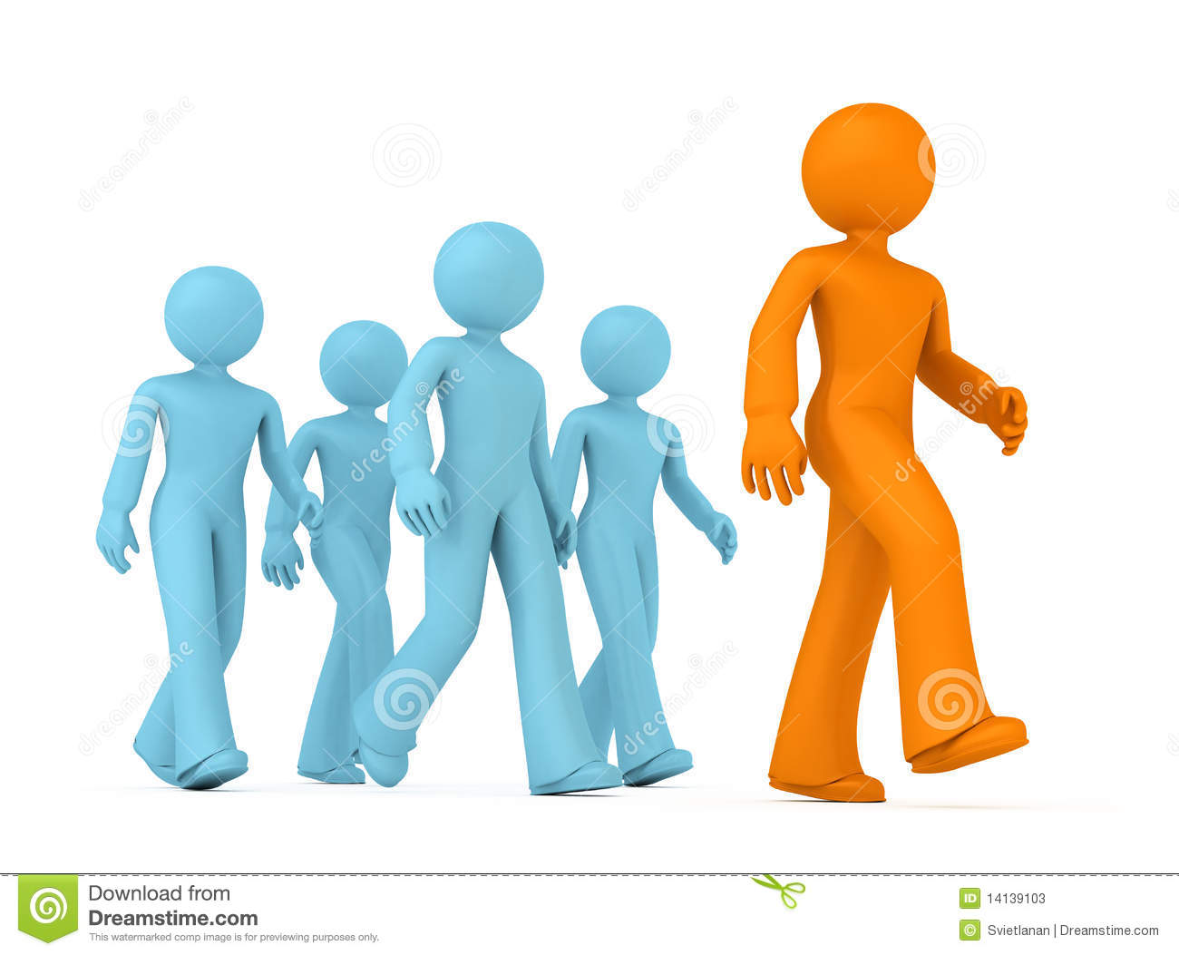Follow The Leader. Stock Photos - Image: 14139103