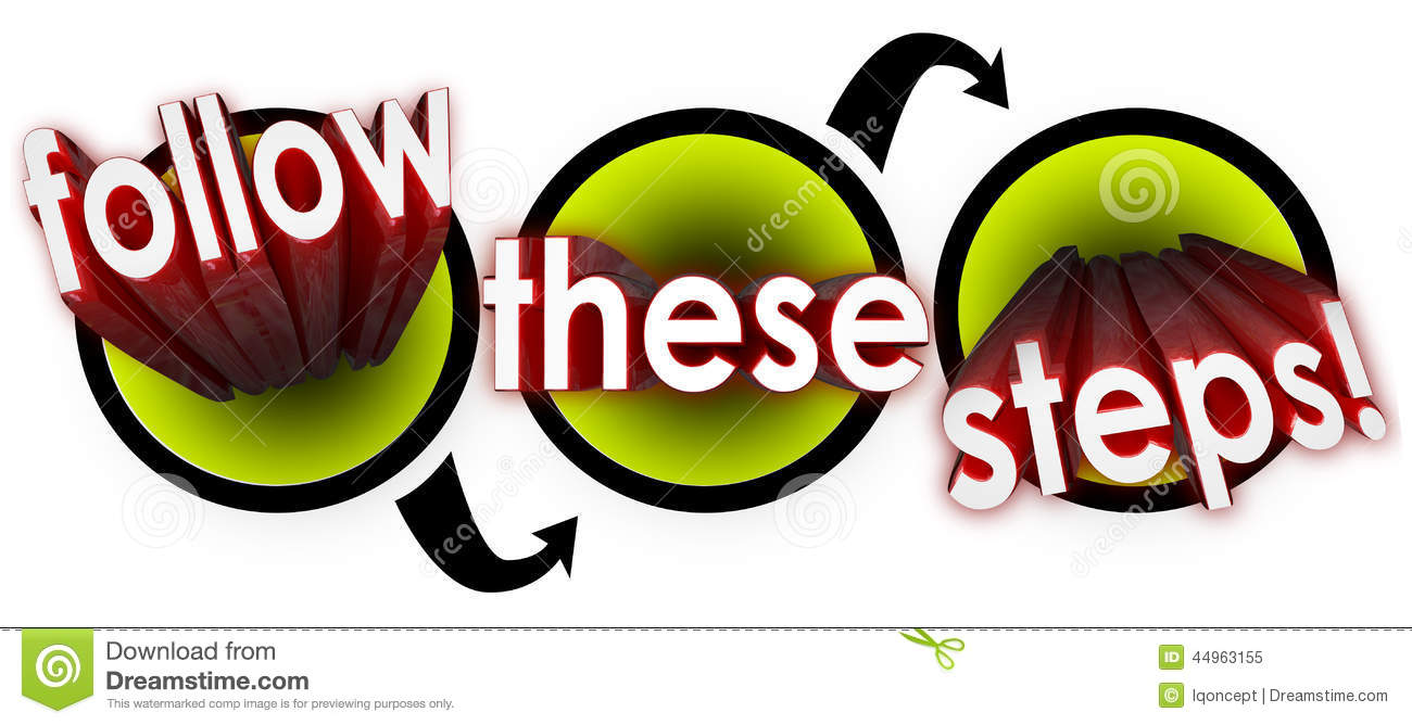 Follow These Steps Diagram Workflow Instructions Stock Illustration ...