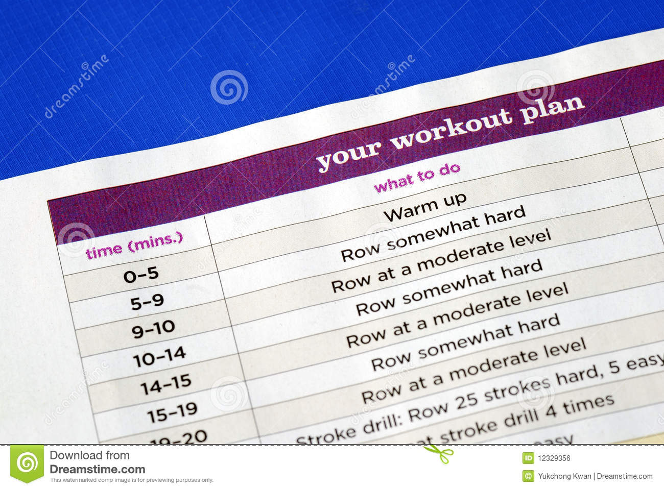 Follow The Work Out Plan Royalty Free Stock Image Image 12329356