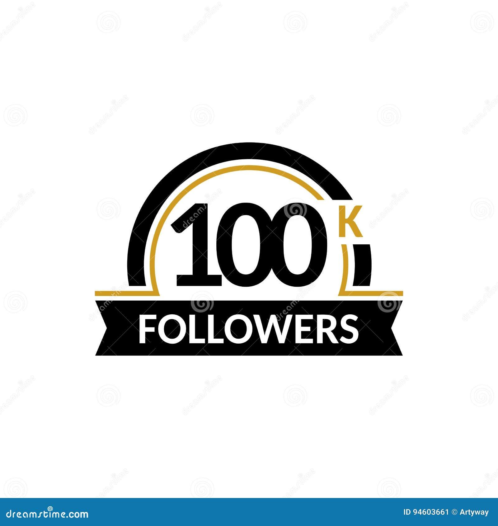 100000 followers and friends 100k anniversary congratulations