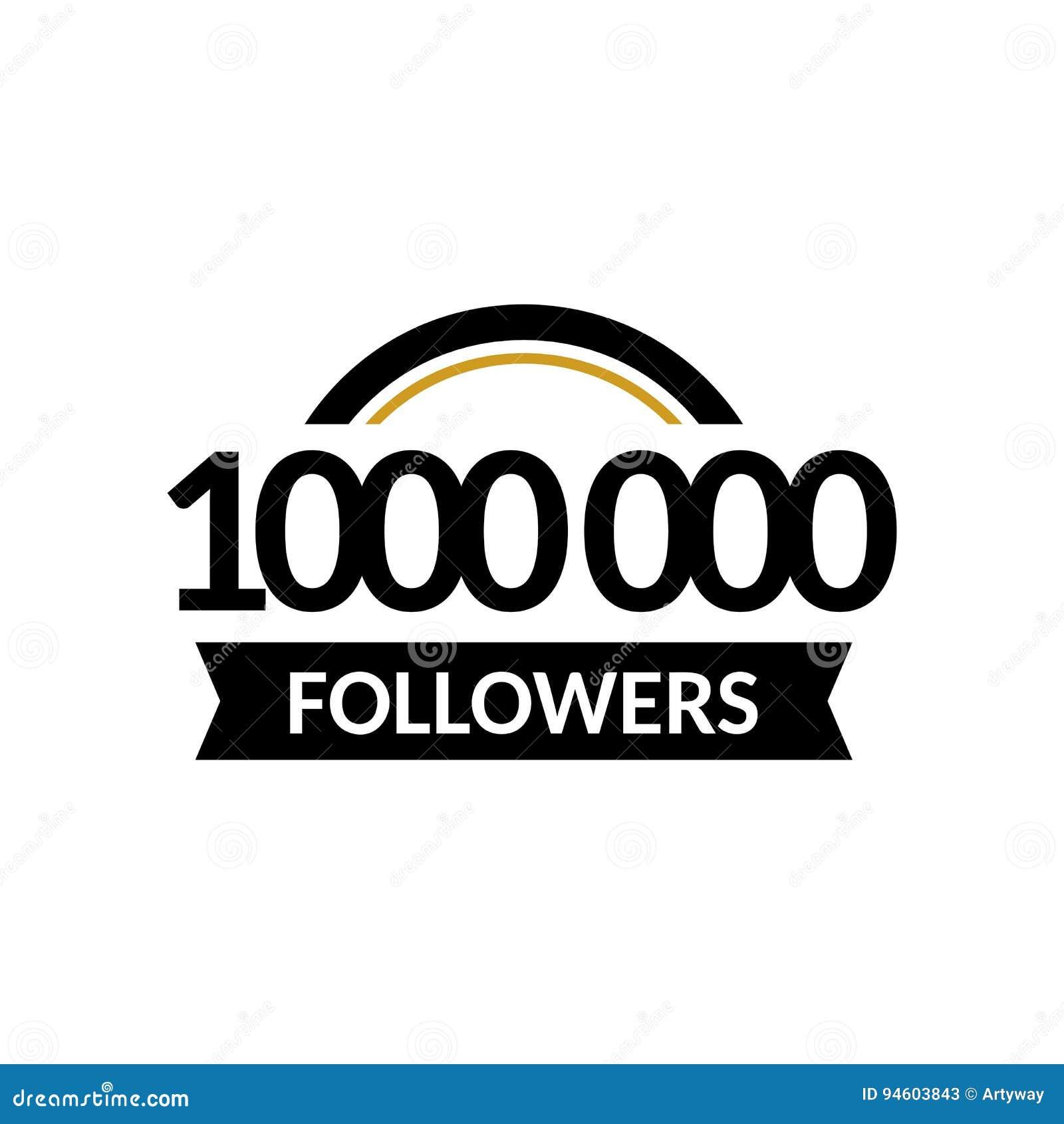 1000000 followers and friends 1m anniversary congratulations design