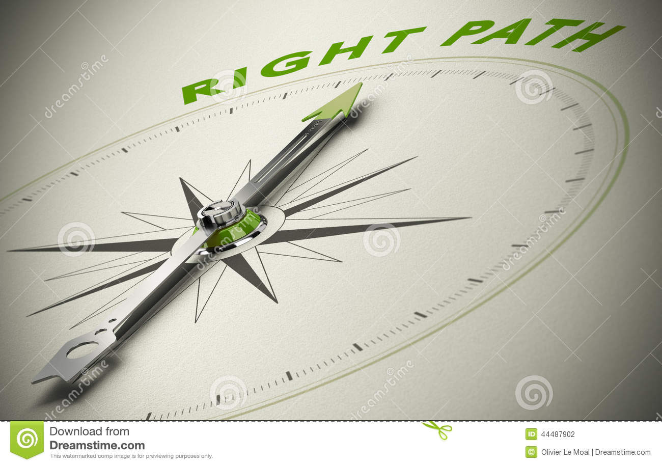 Following The Right Path Stock Illustration