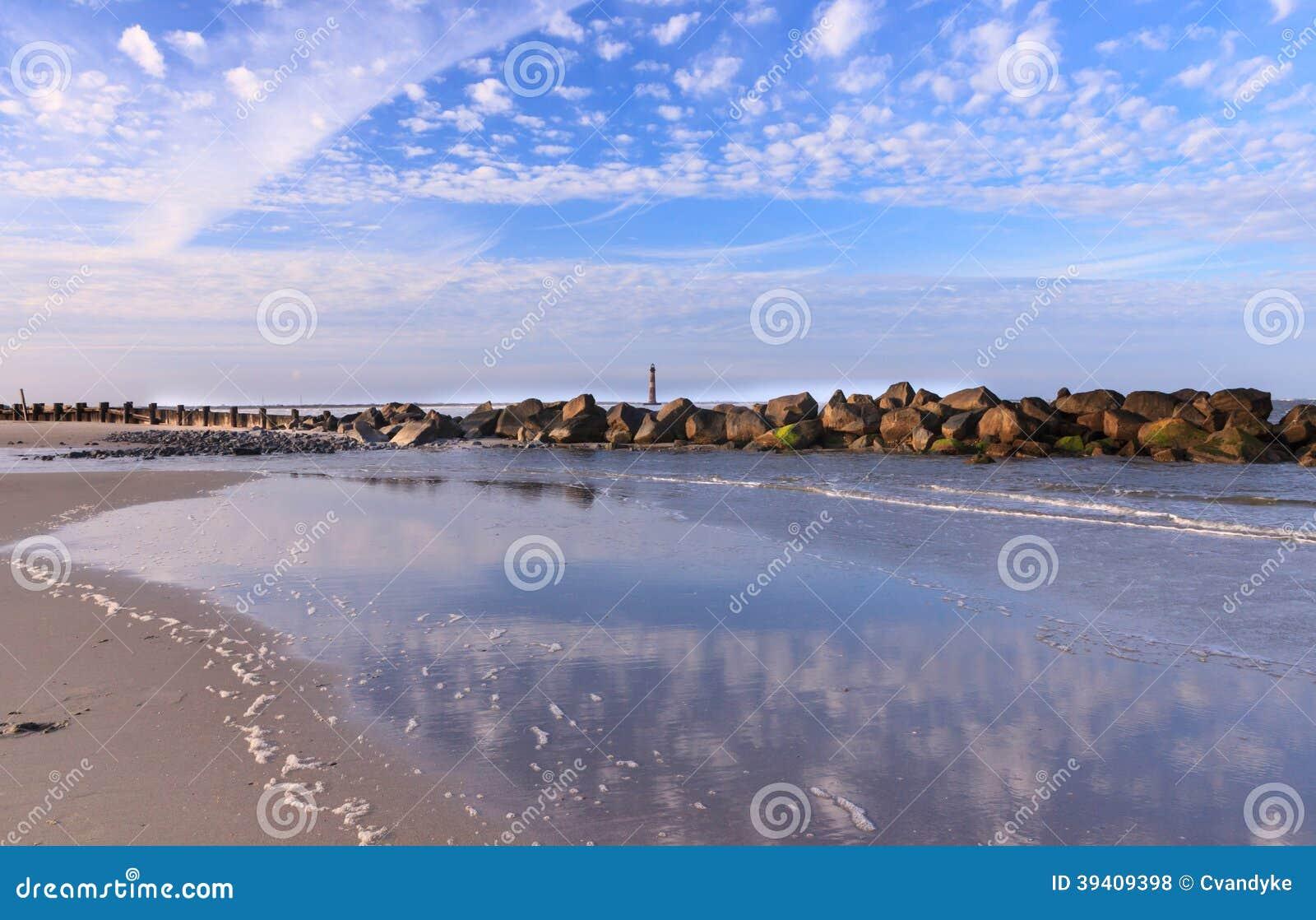 Folly Beach Coastal Landscape South Carolina SC