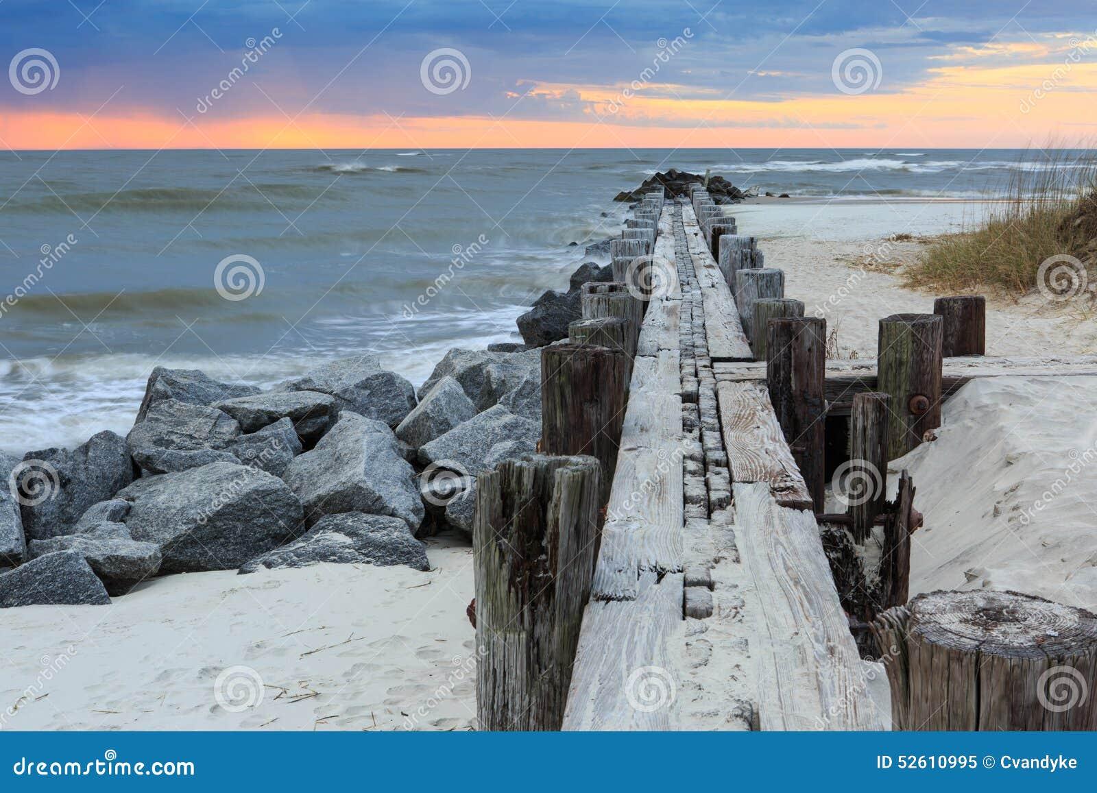 Folly beach soil erosion stock photo image 52610995 for South carolina soil