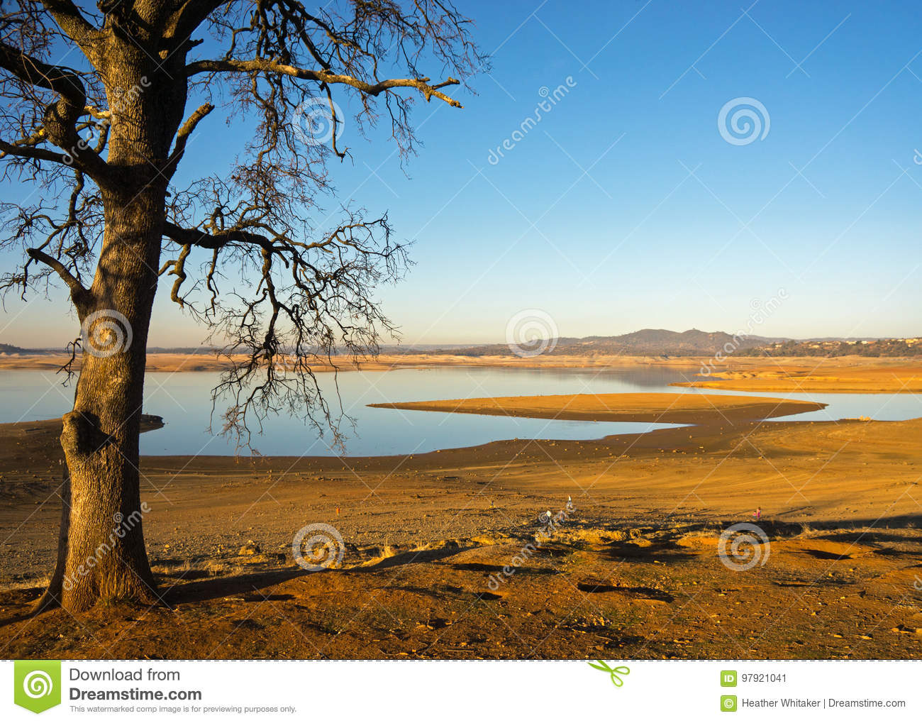 Folsom Lake California During a 7 Year Drought