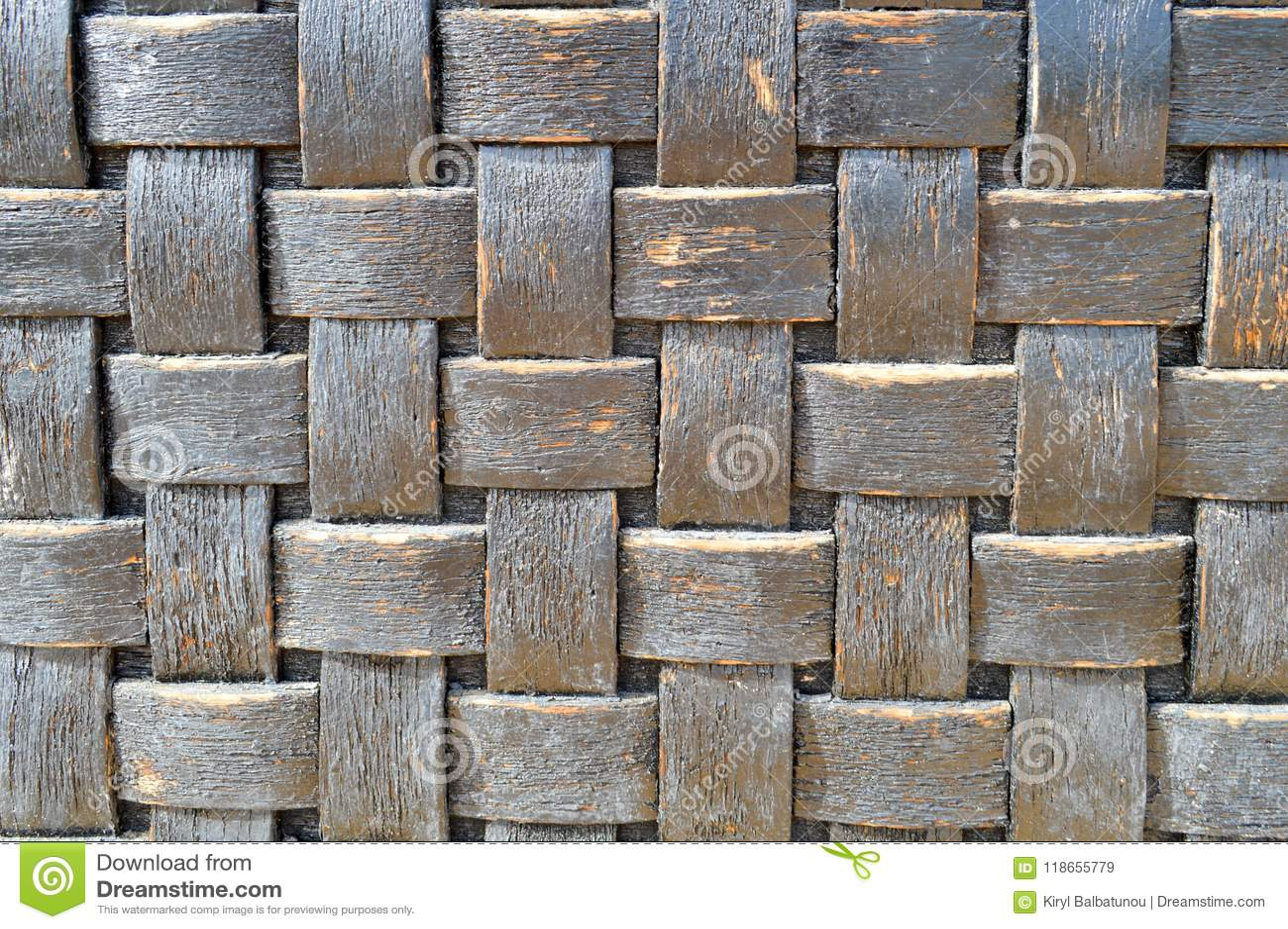Foncé - vieux vieux backgroun homogène décoratif volumétrique minable antique en osier de texture à carreaux en bois convexe bleu