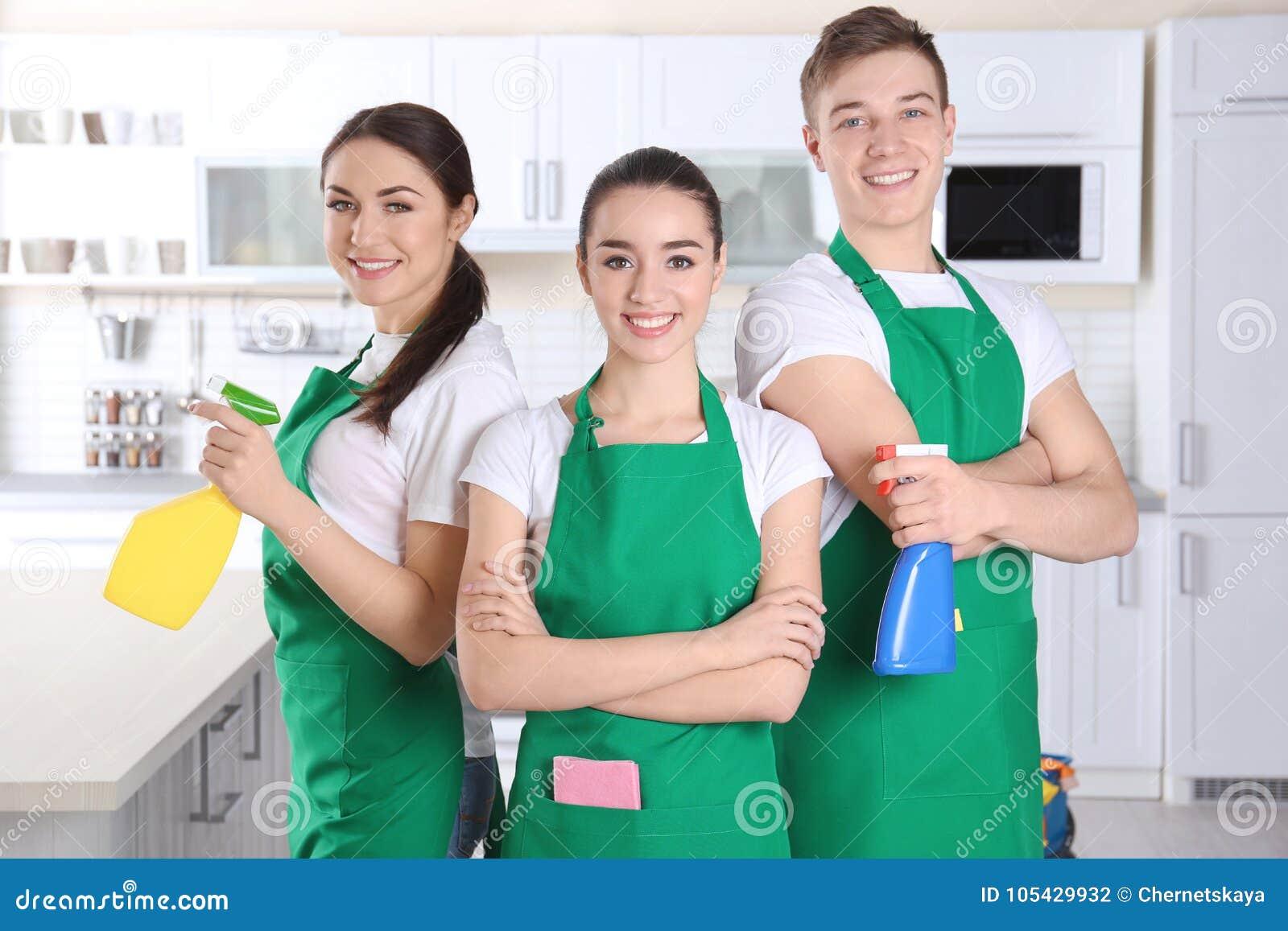 Fonctionnement d équipe de service de nettoyage