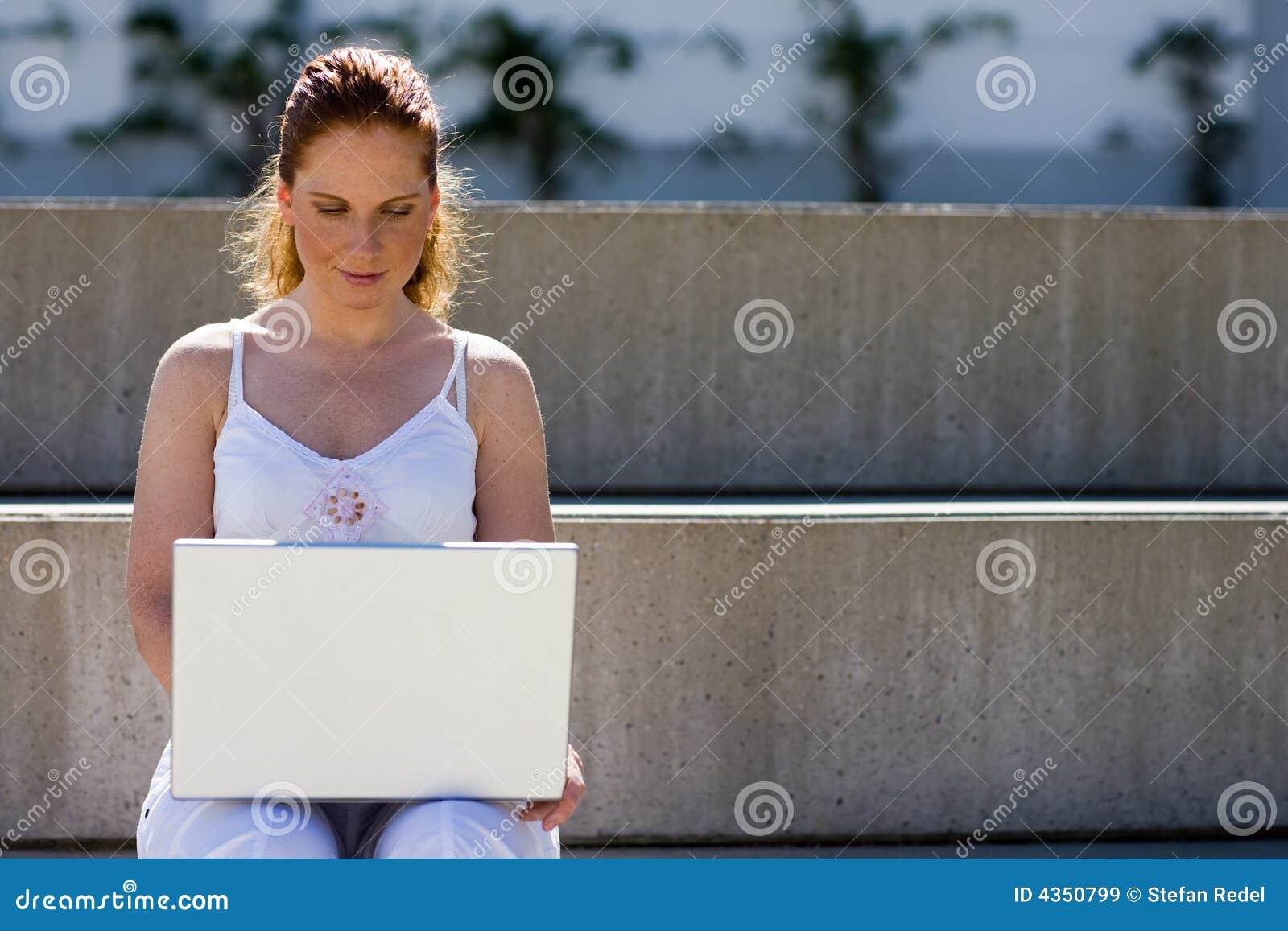 Fonctionner extérieur avec l ordinateur portatif