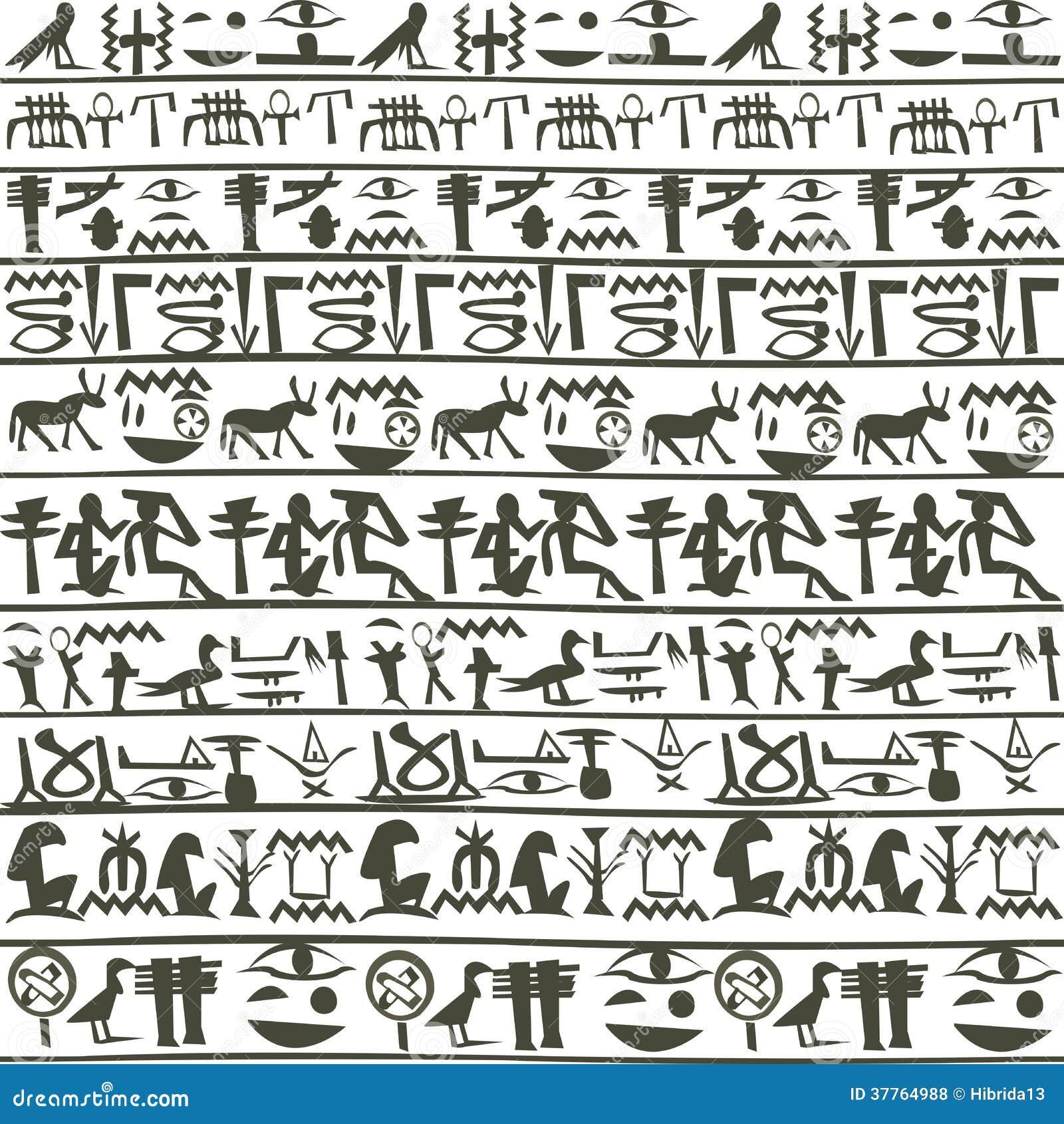 Fond égyptien de hiéroglyphes