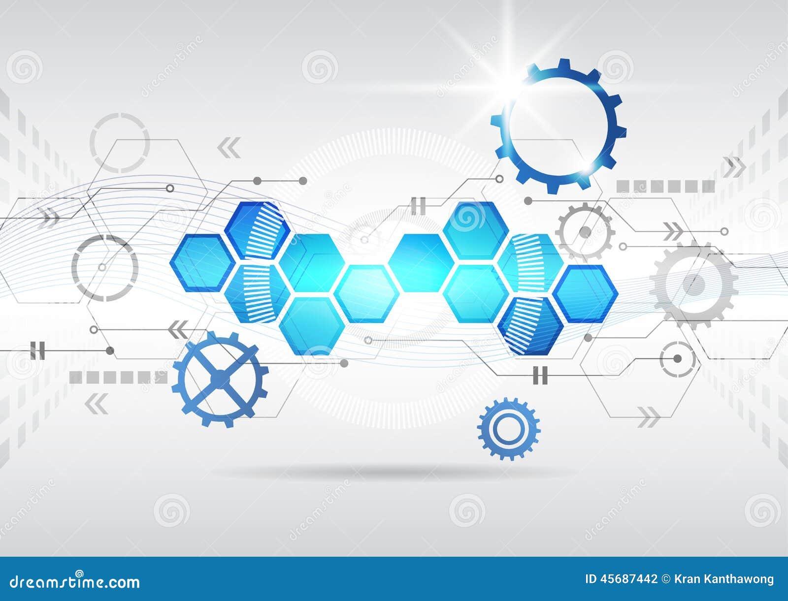 Fond élevé d affaires d informatique de circuit futuriste abstrait