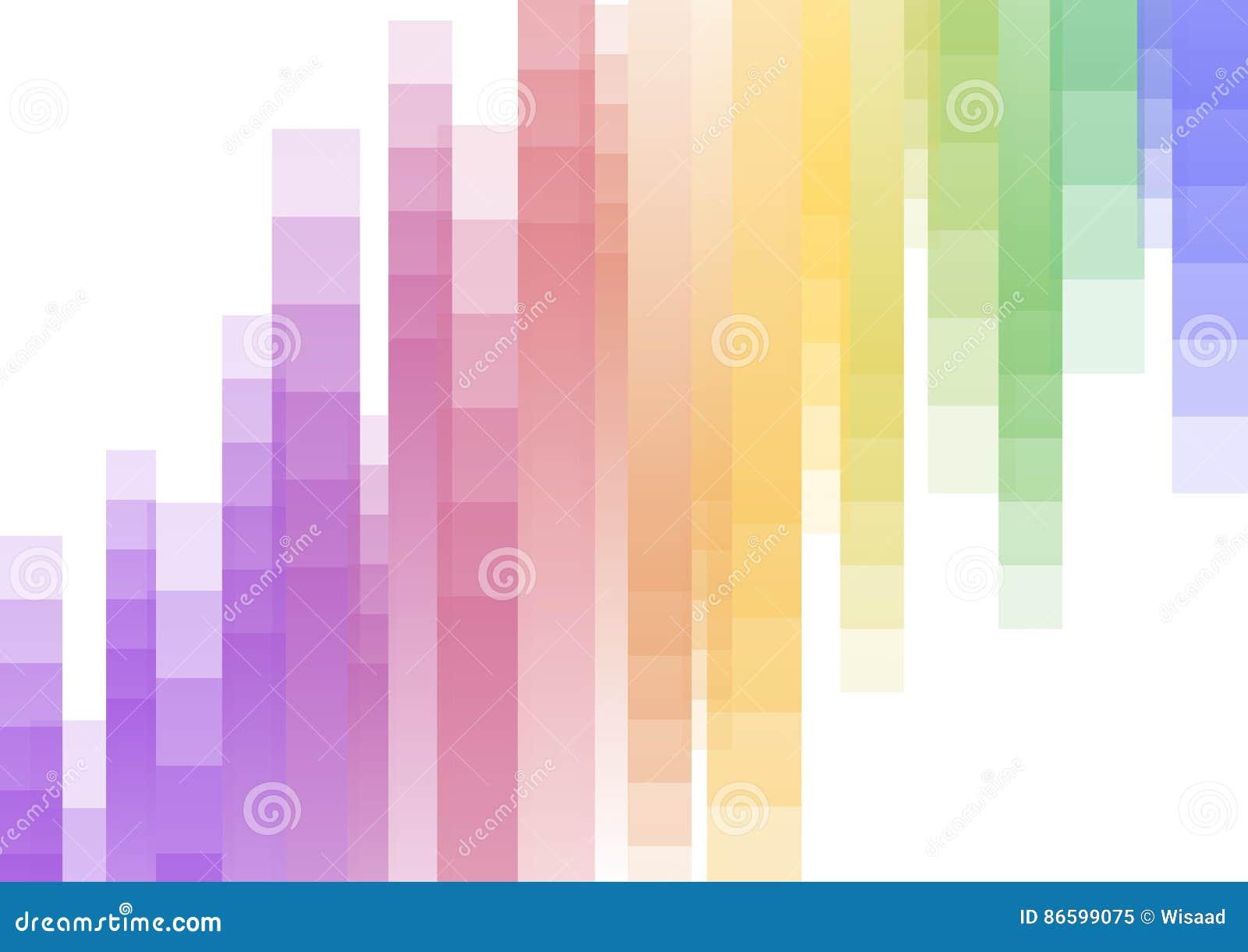 Fond abstrait à l envers de pixel de vitesse d arc-en-ciel