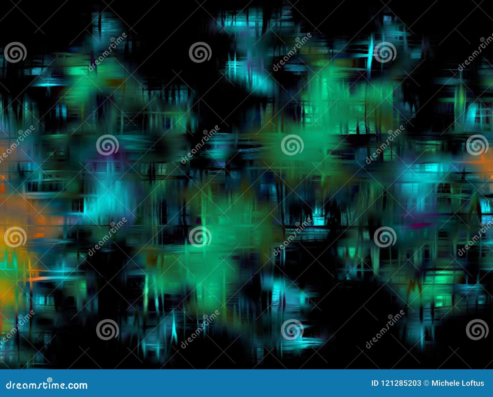 Fond abstrait aux nuances de bleu, de vert, l Aqua et le noir