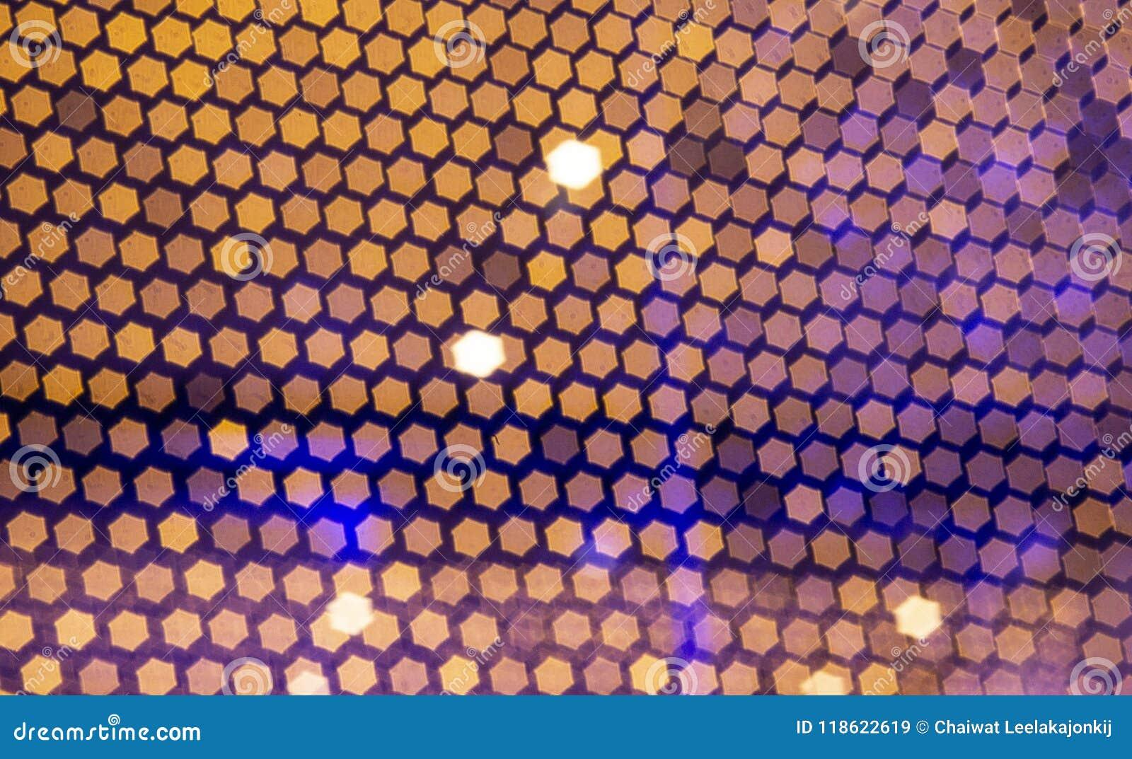 Fond abstrait avec les lumières defocused de bokeh