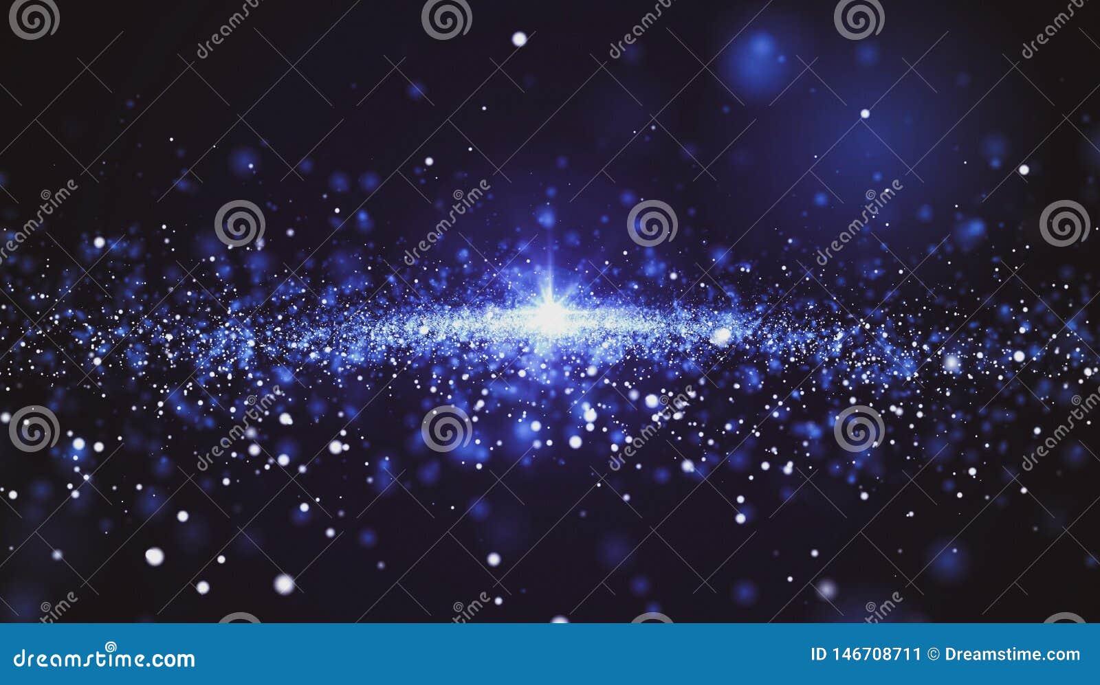Fond abstrait, beaucoup d étoiles de l espace