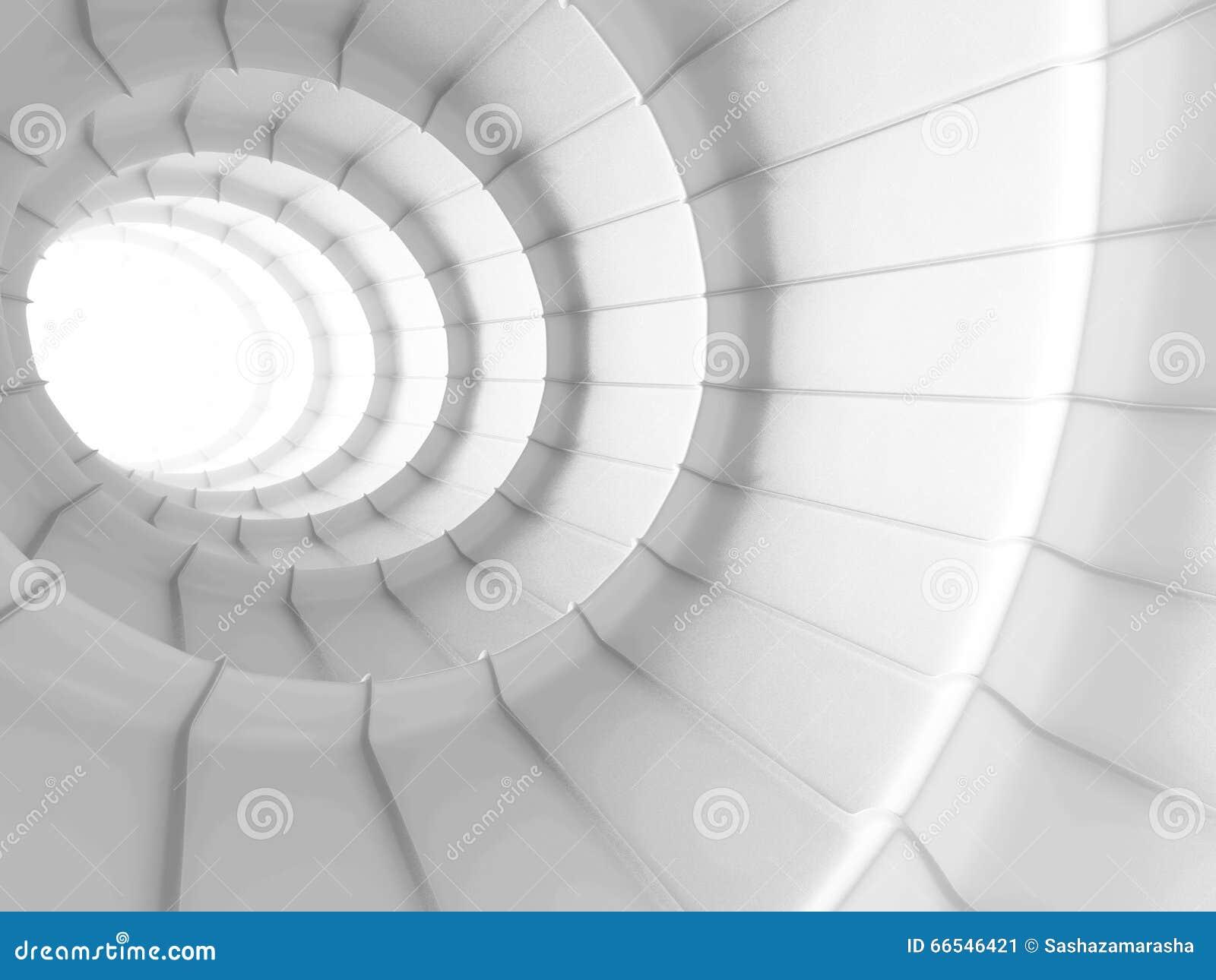 Fond abstrait blanc de conception de tunnel