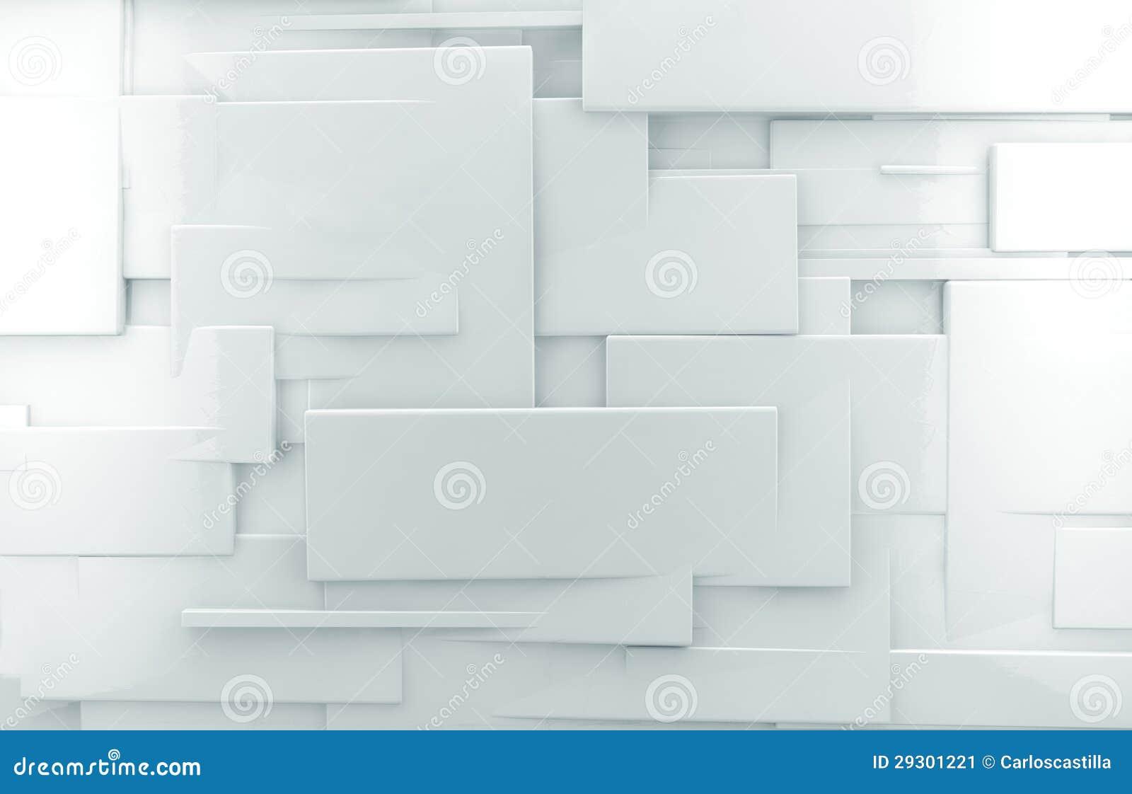 fond abstrait blanc du mur 3d image stock image 29301221. Black Bedroom Furniture Sets. Home Design Ideas