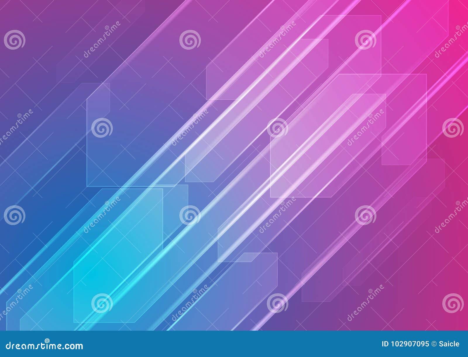 Fond abstrait bleu et pourpre coloré de technologie