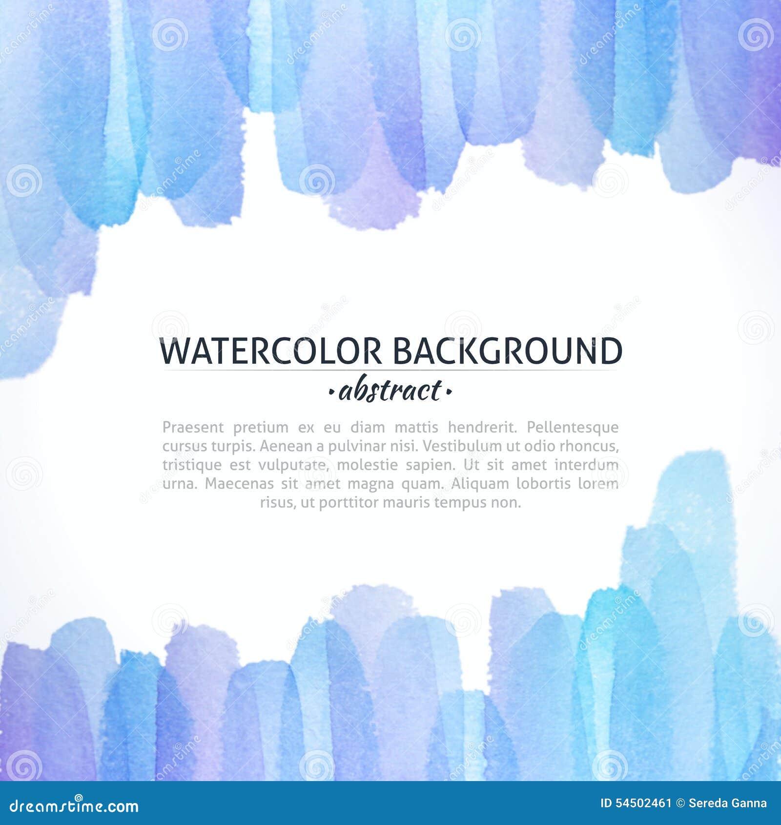 Fond abstrait bleu et pourpre d aquarelle