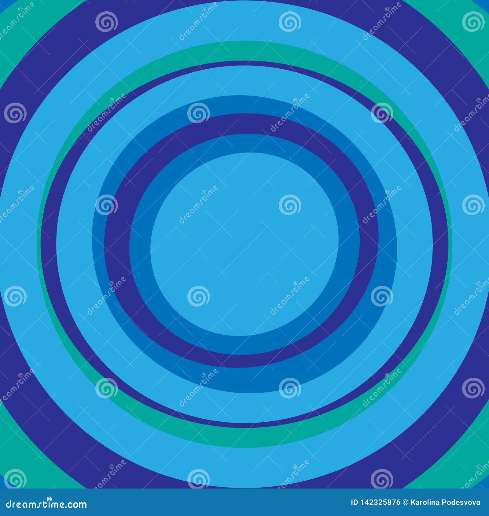 Fond abstrait bleu et vert de cercles concentriques