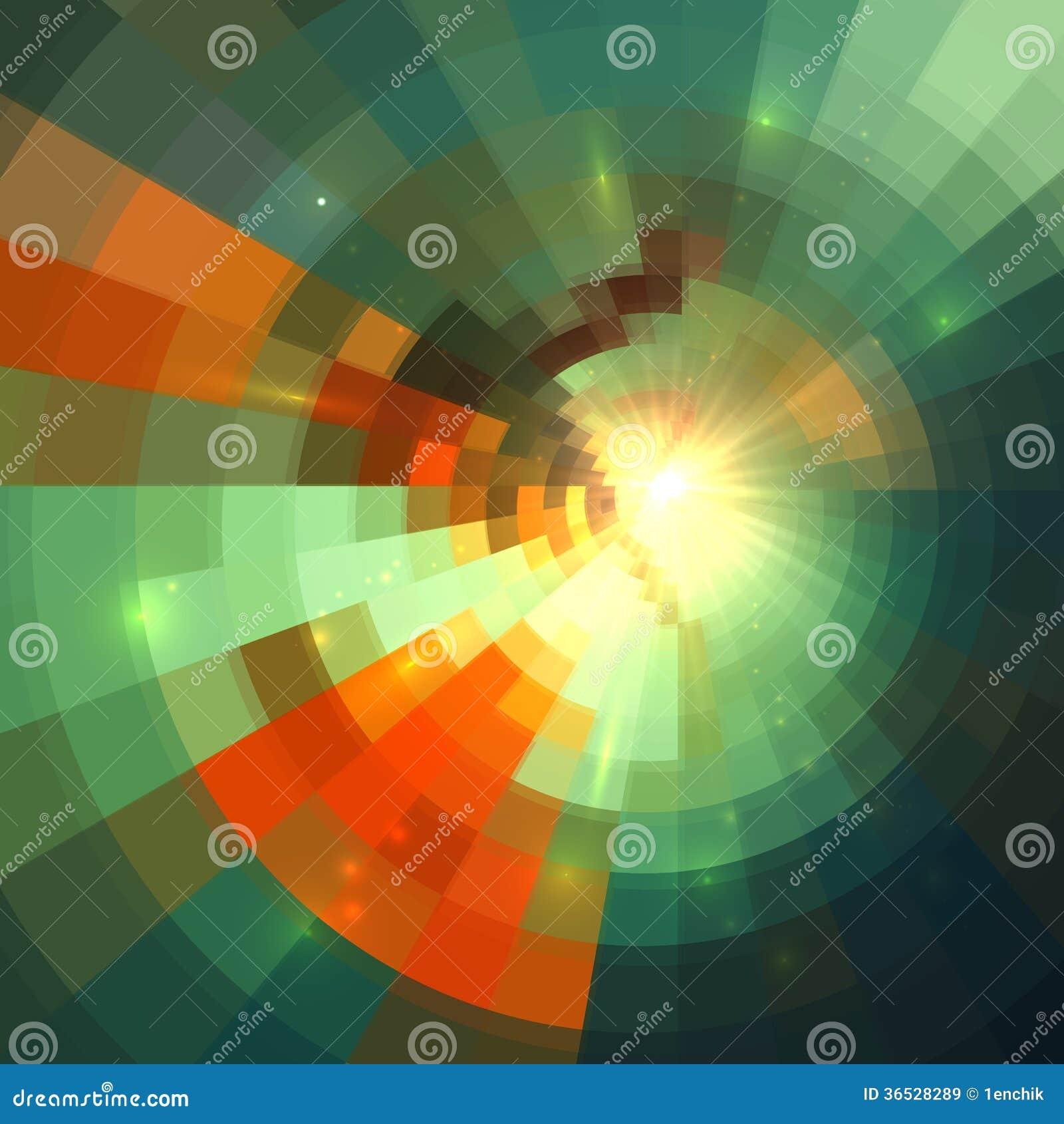 Fond abstrait carrelé lumineux brillant vert