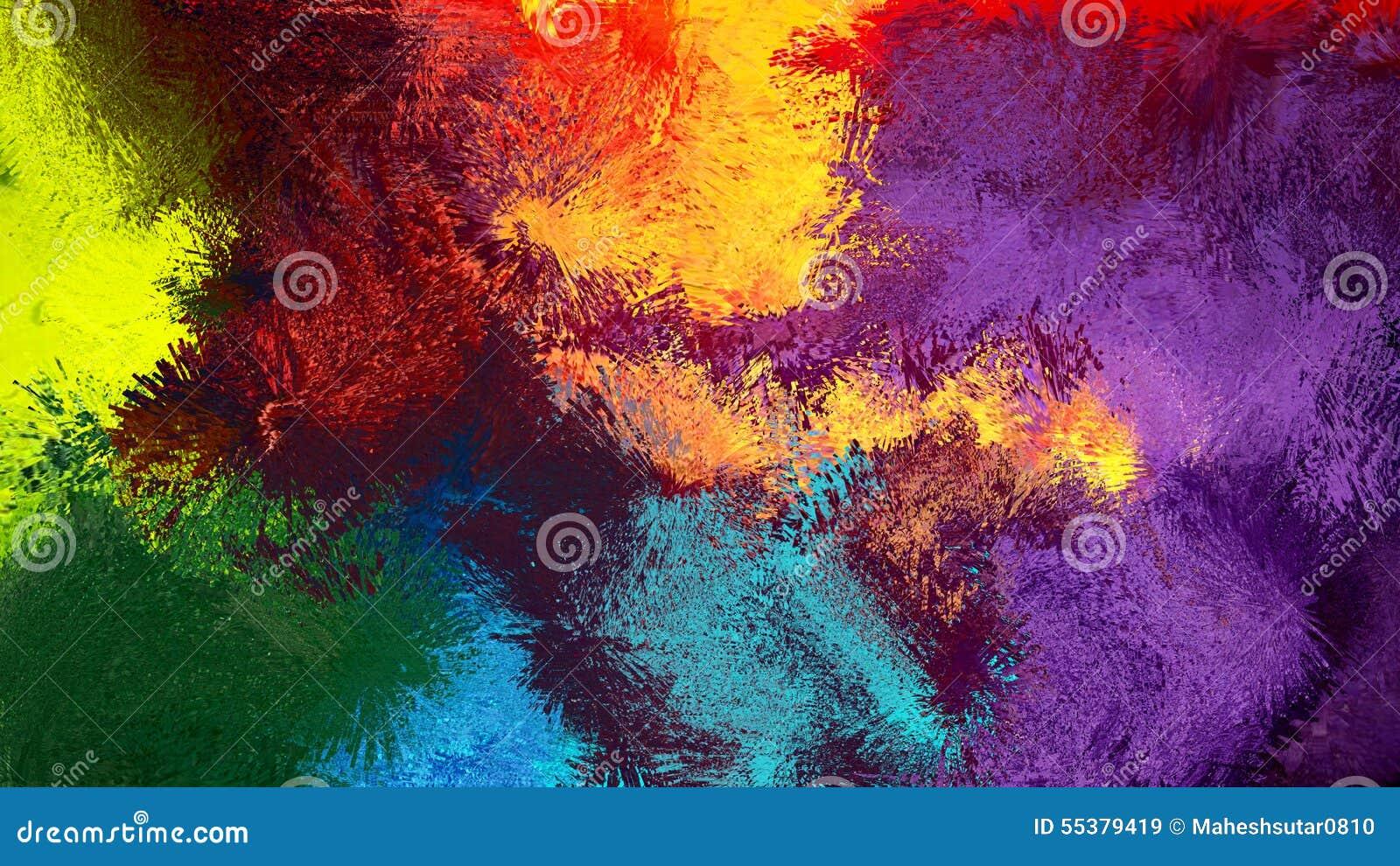 Fond abstrait coloré d art abstrait de Digital