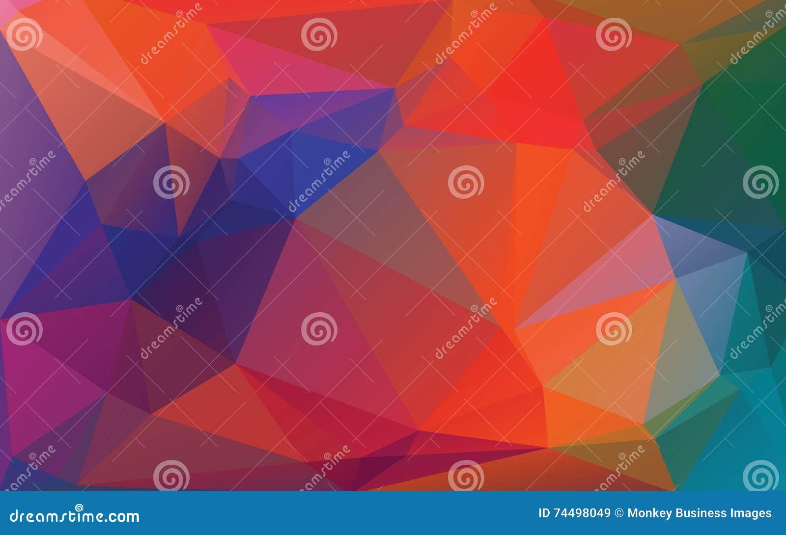 Fond abstrait d Autumn Color Low Poly Vector