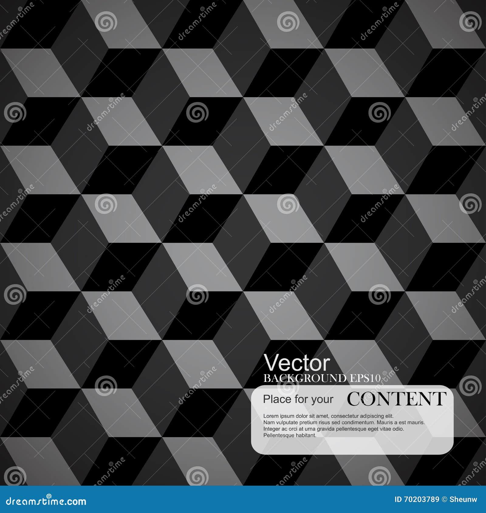 Fond abstrait, 3d cubes, texture noire
