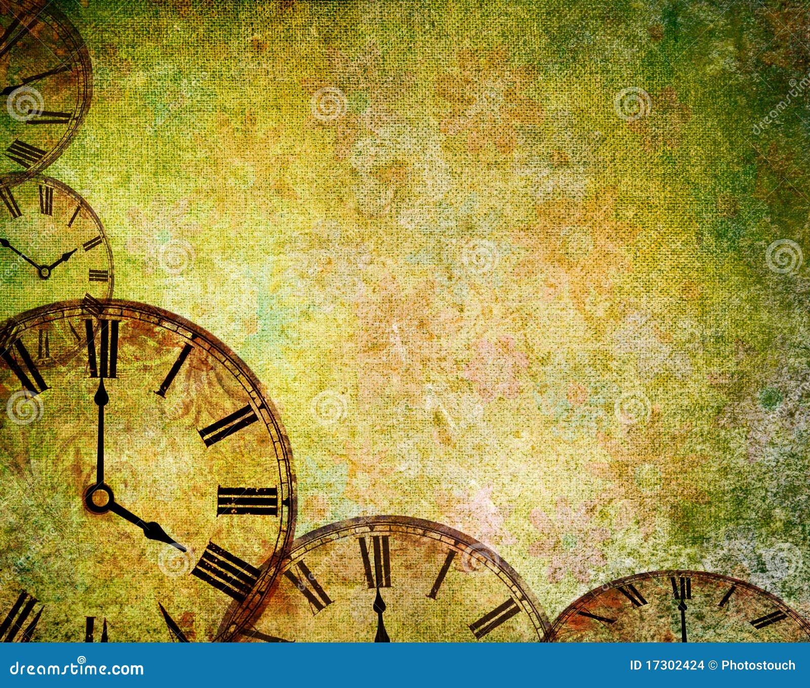 Fond abstrait d horloge de cru