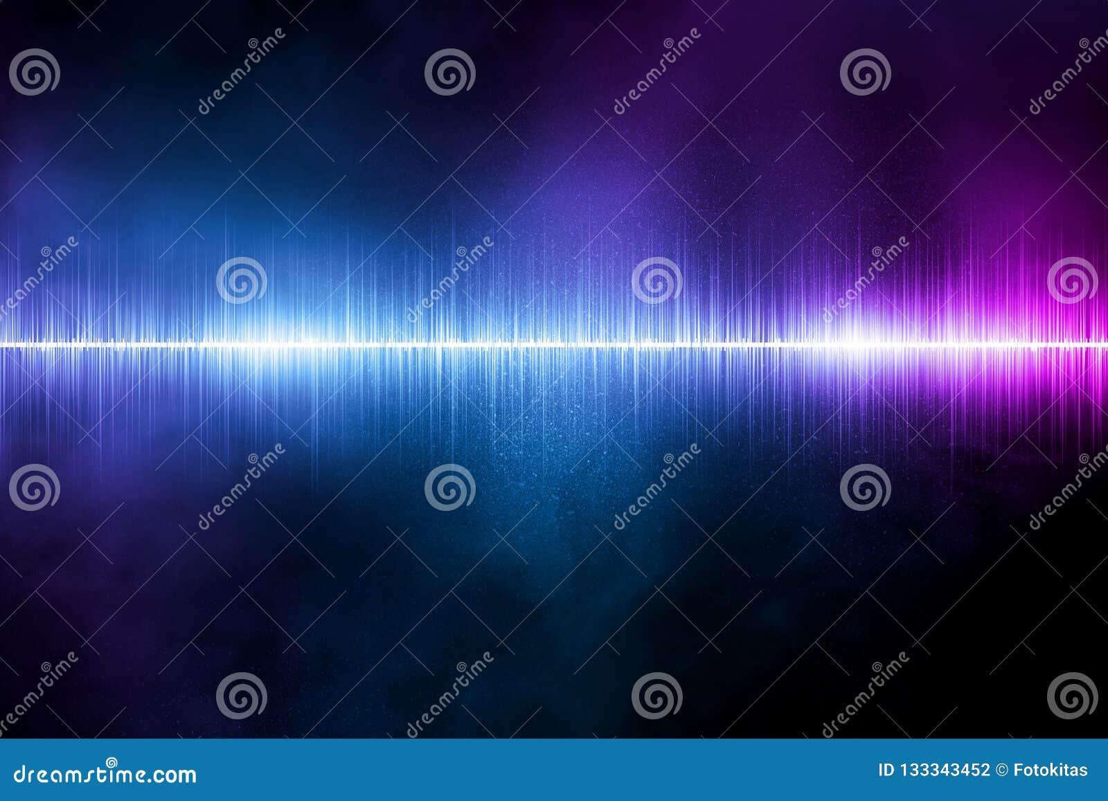 Fond abstrait d illustration d onde sonore