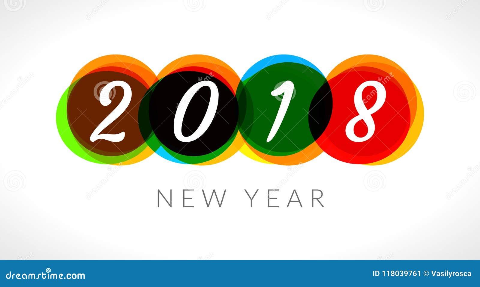 Fond abstrait de bannière de la bonne année 2018 2018 célébrations de salutation