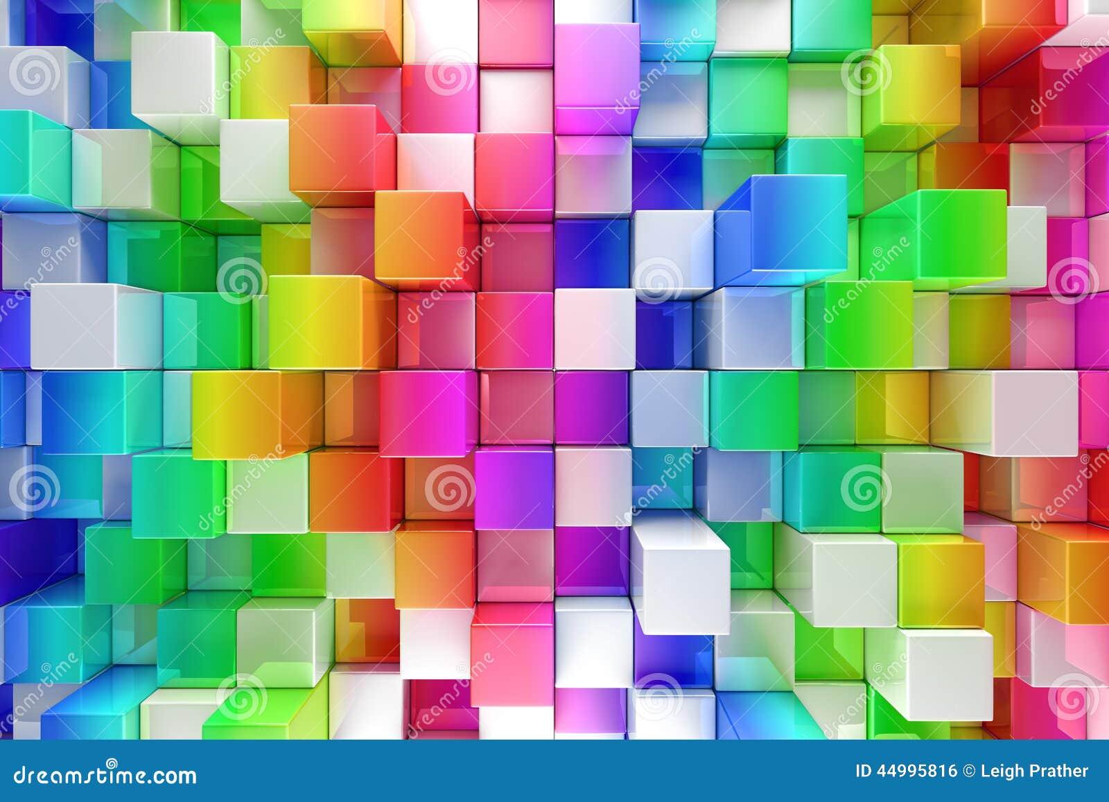 Fond abstrait de blocs colorés