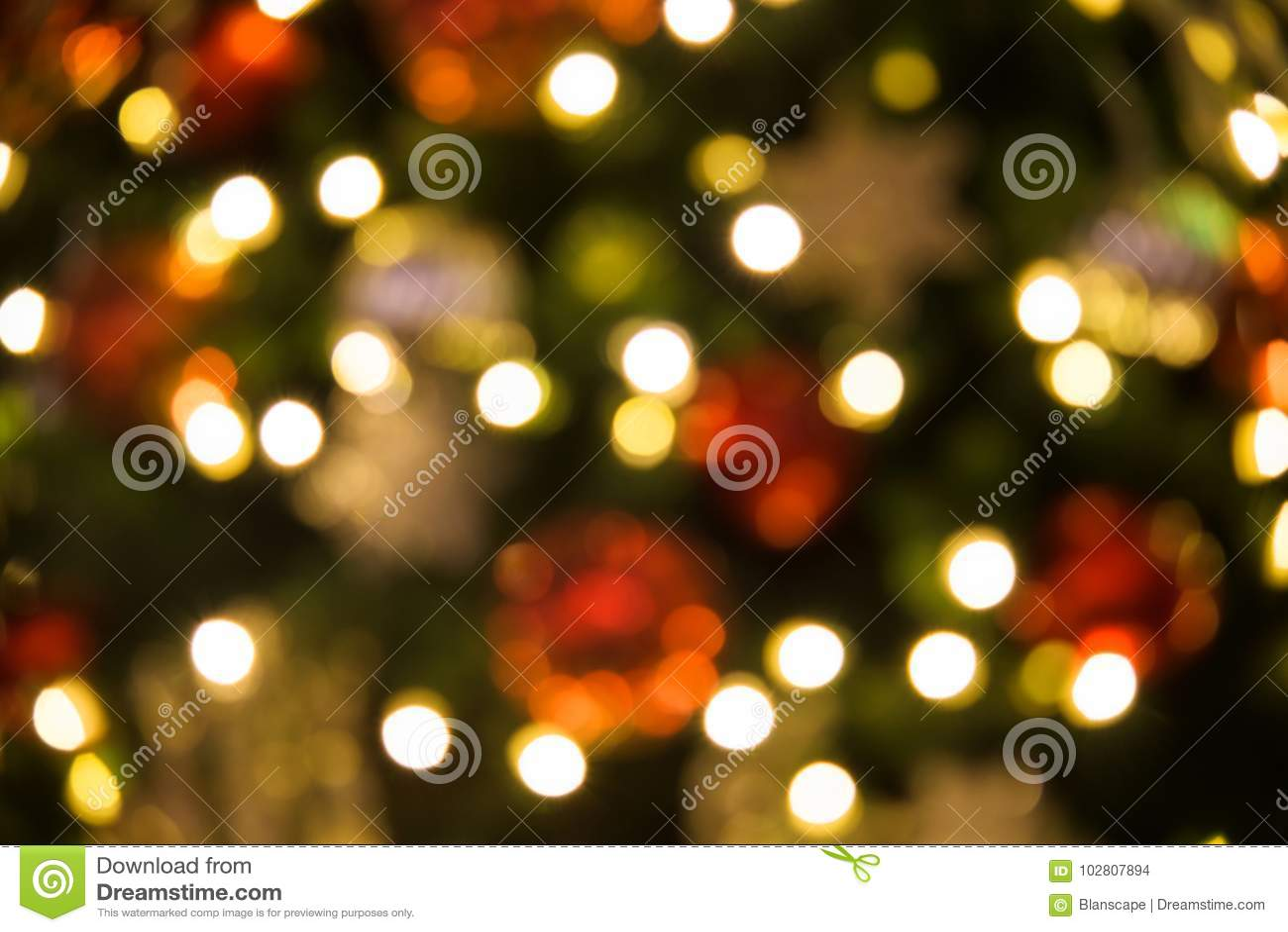 Fond abstrait de bokeh d arbre de Noël
