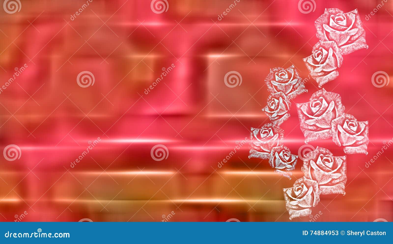 Fond abstrait de carte de voeux de roses
