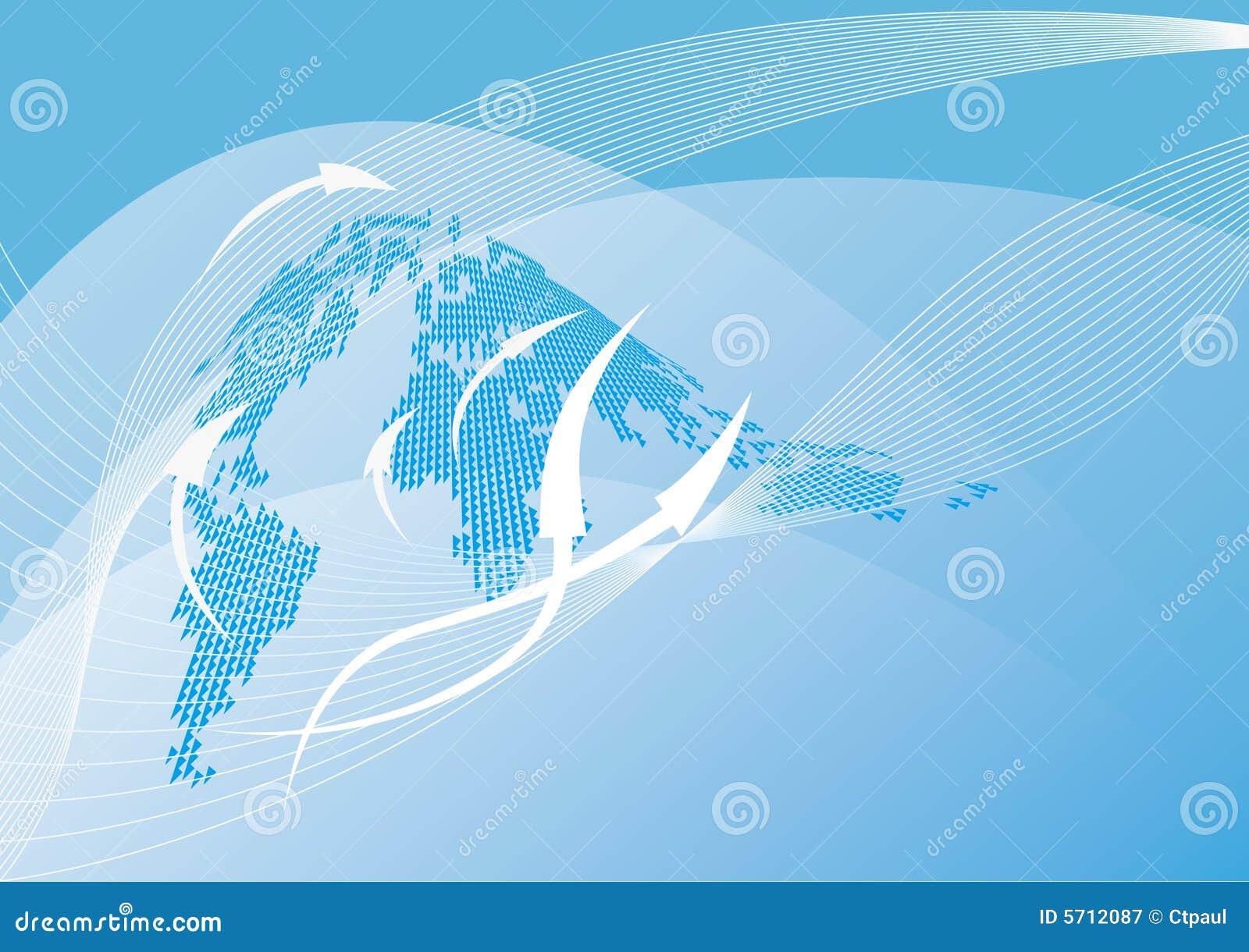 Fond abstrait de carte du monde