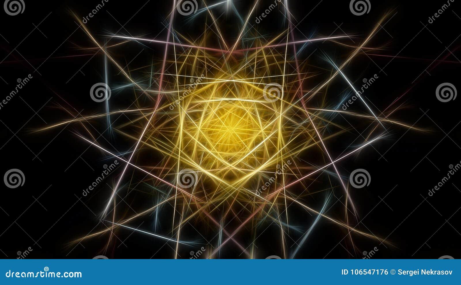 Fond abstrait de couleur avec des effets de fractale Série en soie de symétrie de fractale
