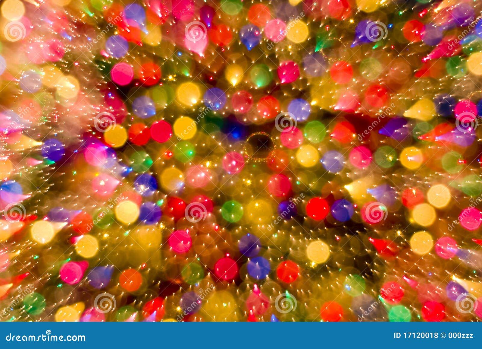Image En Couleur De Noel.Fond Abstrait De Couleur De Lumieres De Bokeh De Noel Photo