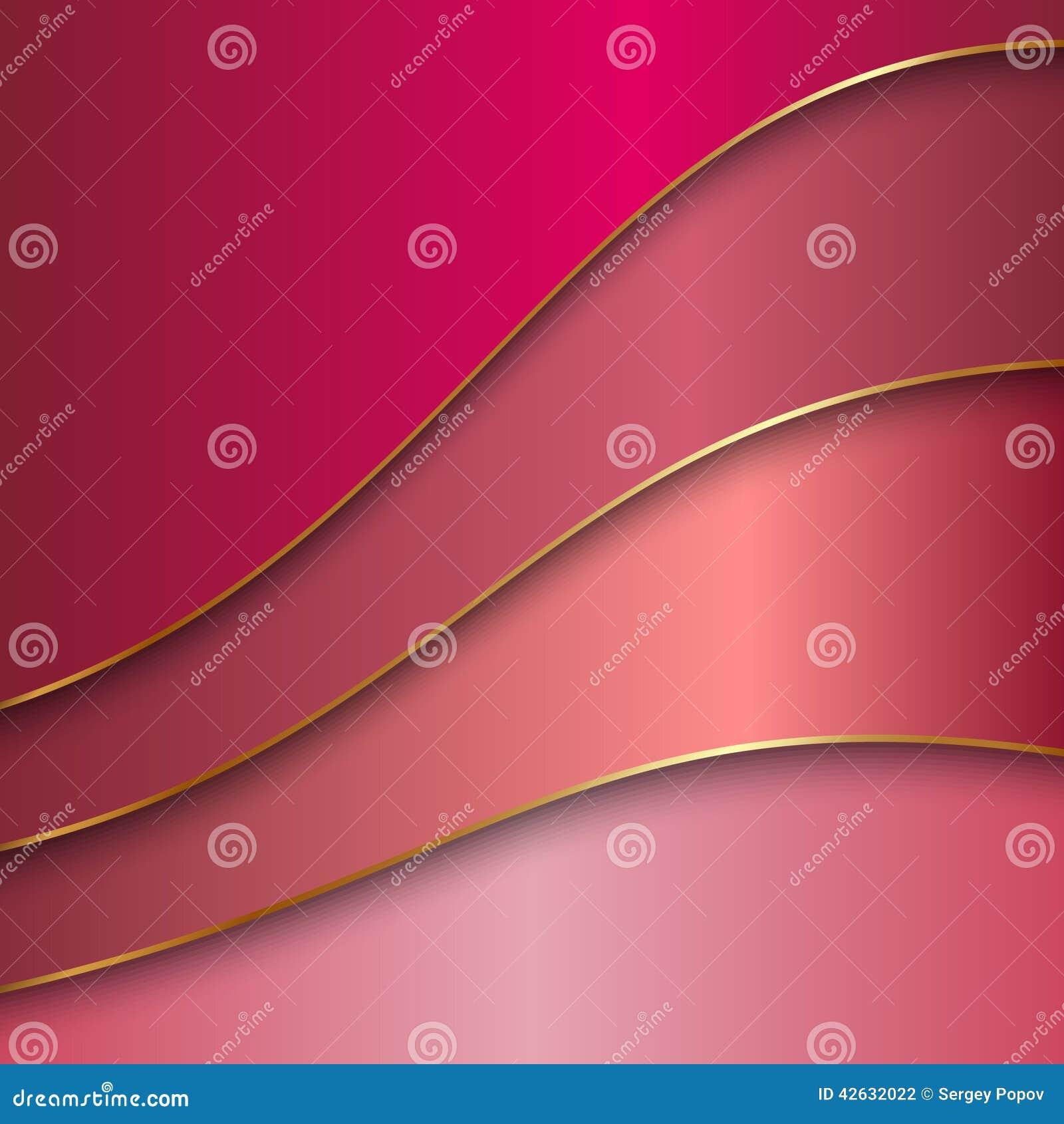 Fond abstrait de couleur en métal de vecteur avec des courbes