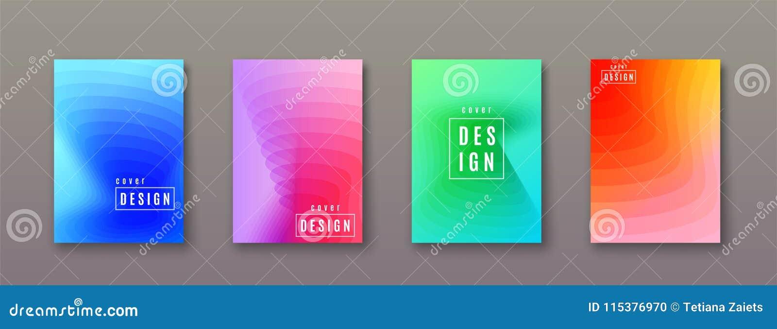 Fond abstrait de gradient avec des formes géométriques de couleur Conception fraîche minimale de couvertures