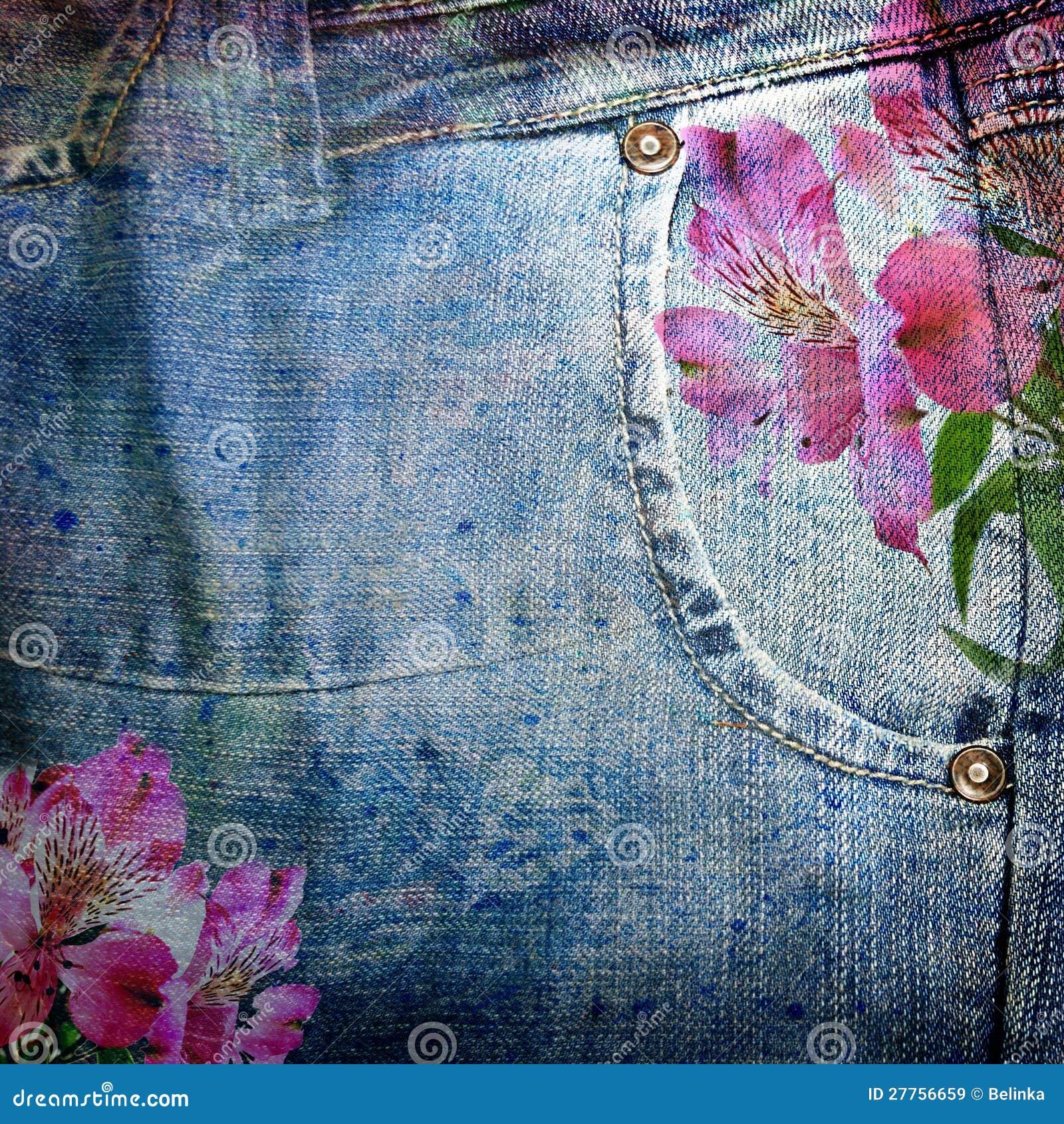 Fond abstrait de jeans