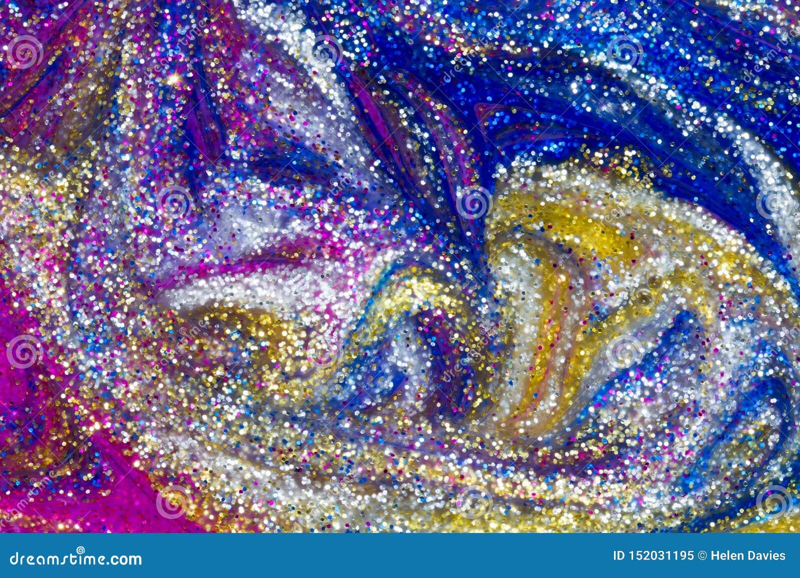 Fond abstrait de luxe des remous de peinture de scintillement