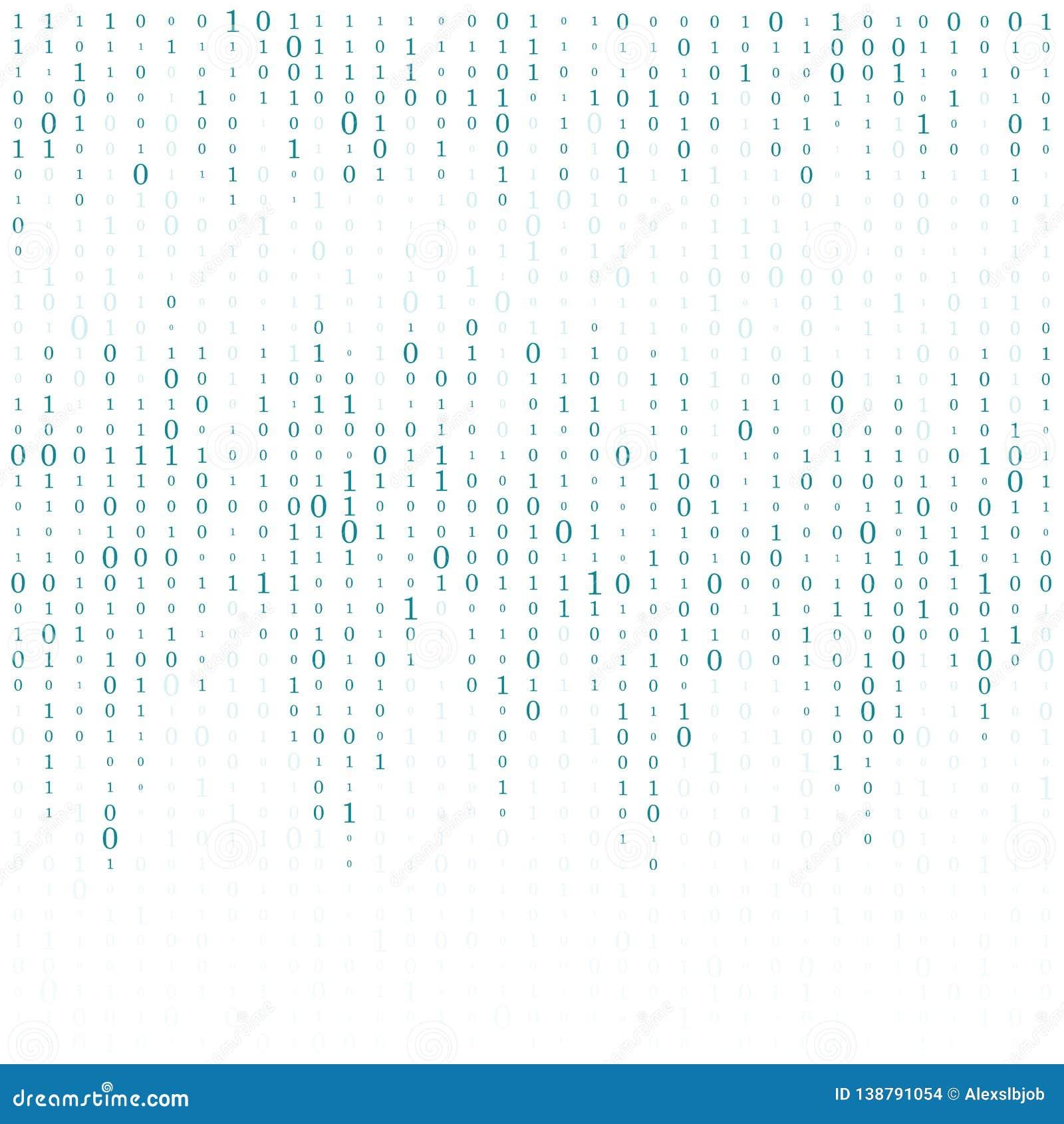 Fond abstrait de matrice Code machine binaire codage Concept de pirate informatique Illustration de fond de vecteur