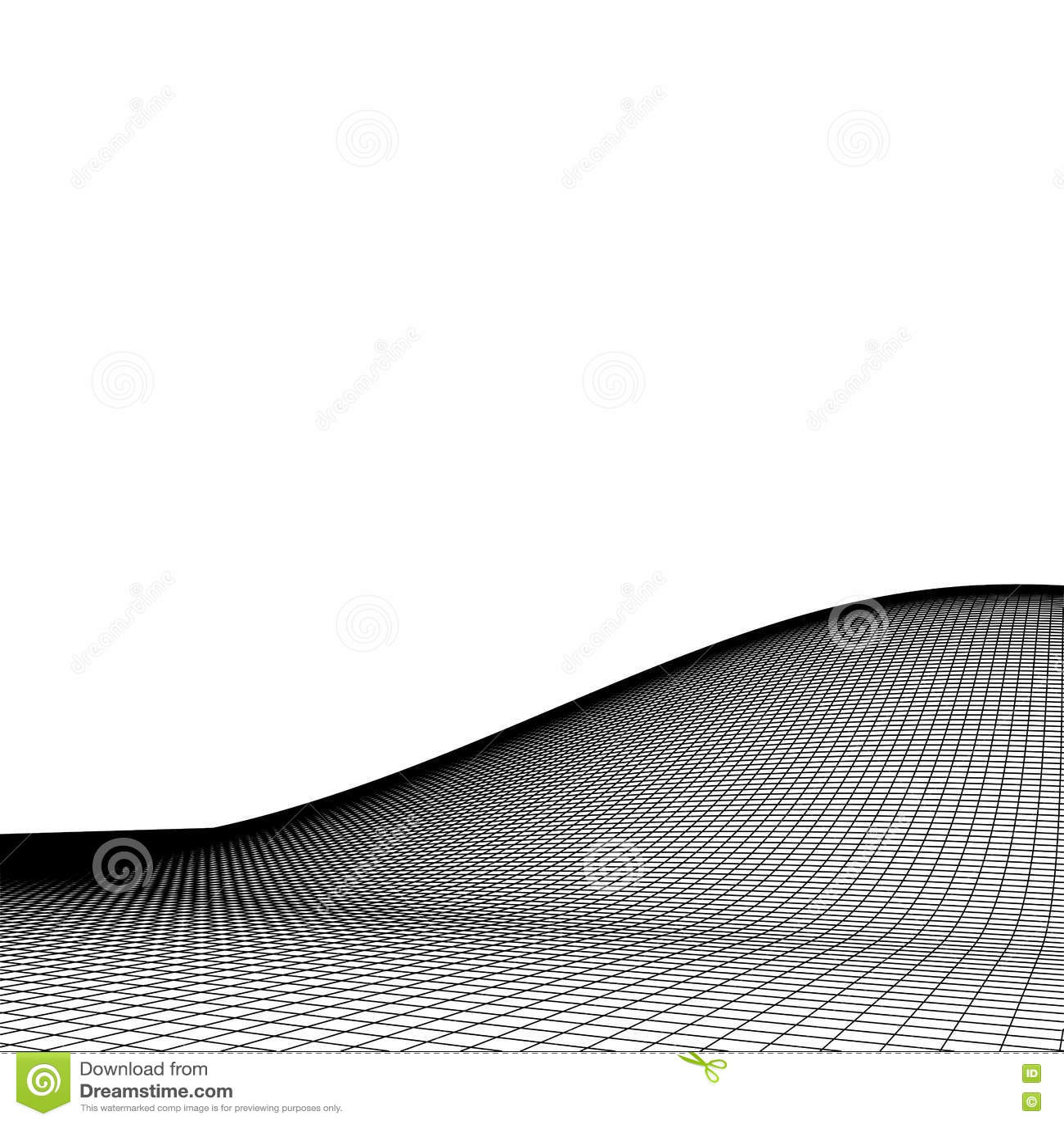 Fond abstrait de paysage de vecteur Grille de cyberespace illustration de la technologie 3d