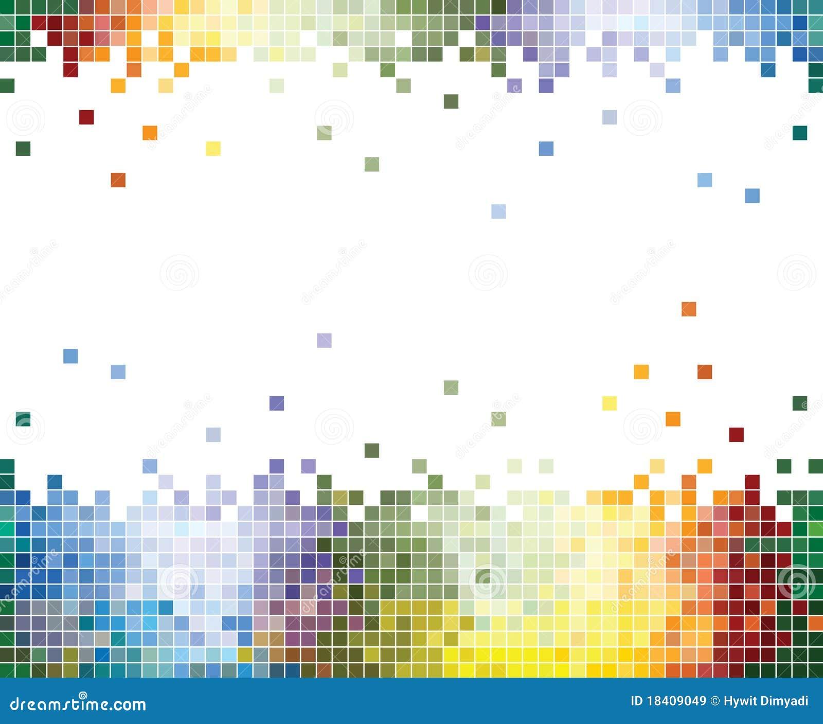 Fond abstrait de Pixel colorés