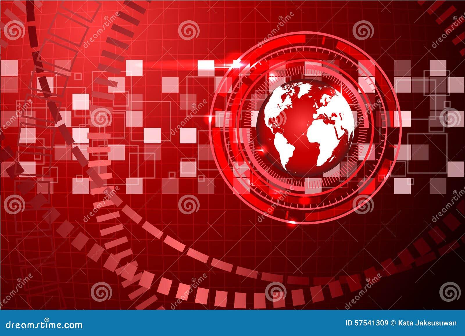 Fond abstrait de technologie avec la grille 2