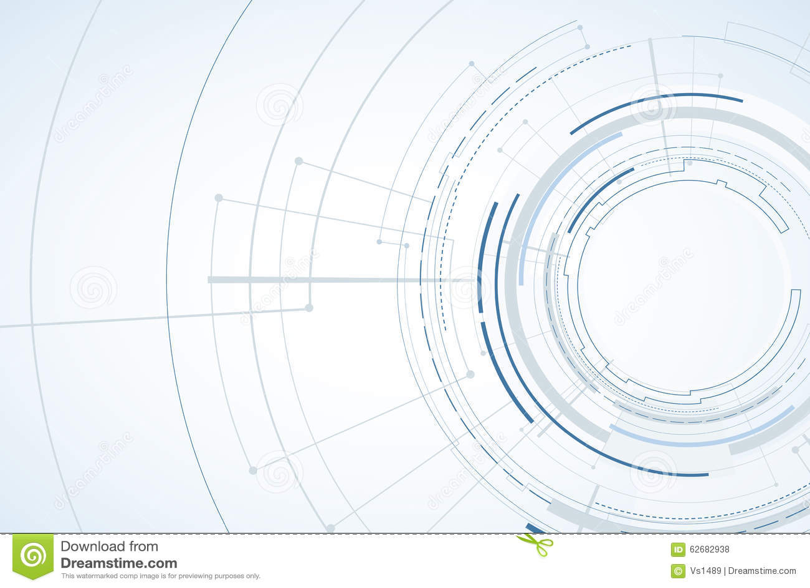 Fond abstrait de technologie Interface futuriste de technologie Vecto