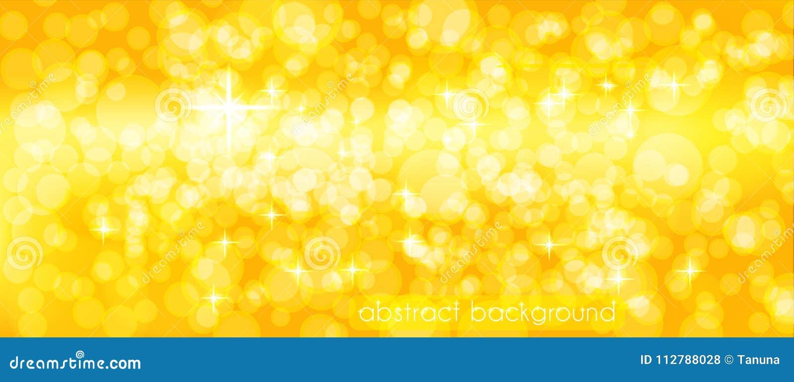 Fond abstrait de vecteur dans des tons d or Contexte pour décorer l en-tête du ` s de site, bannière, cartes de vacances, félicit