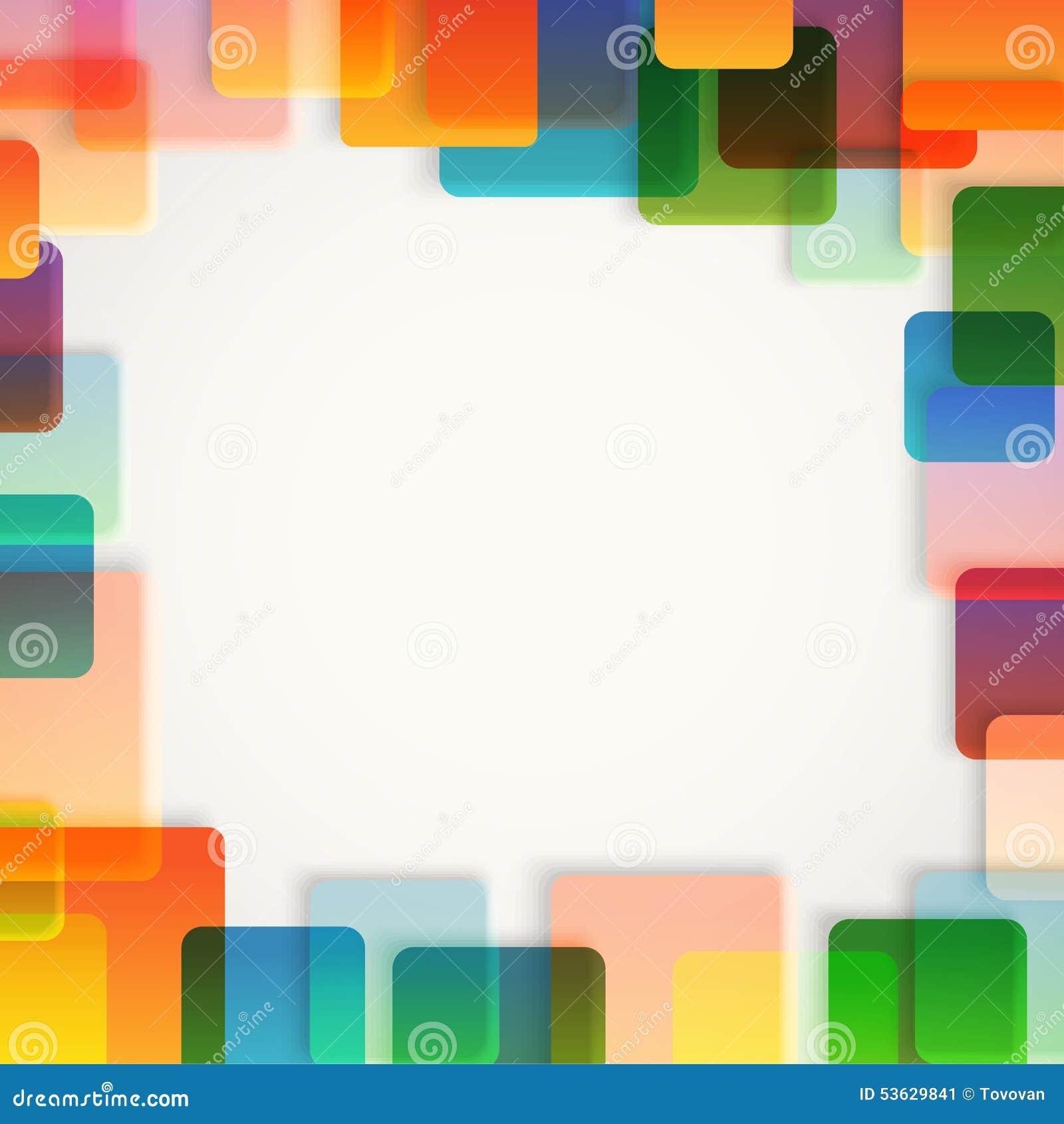Fond abstrait de vecteur de différentes places de couleur